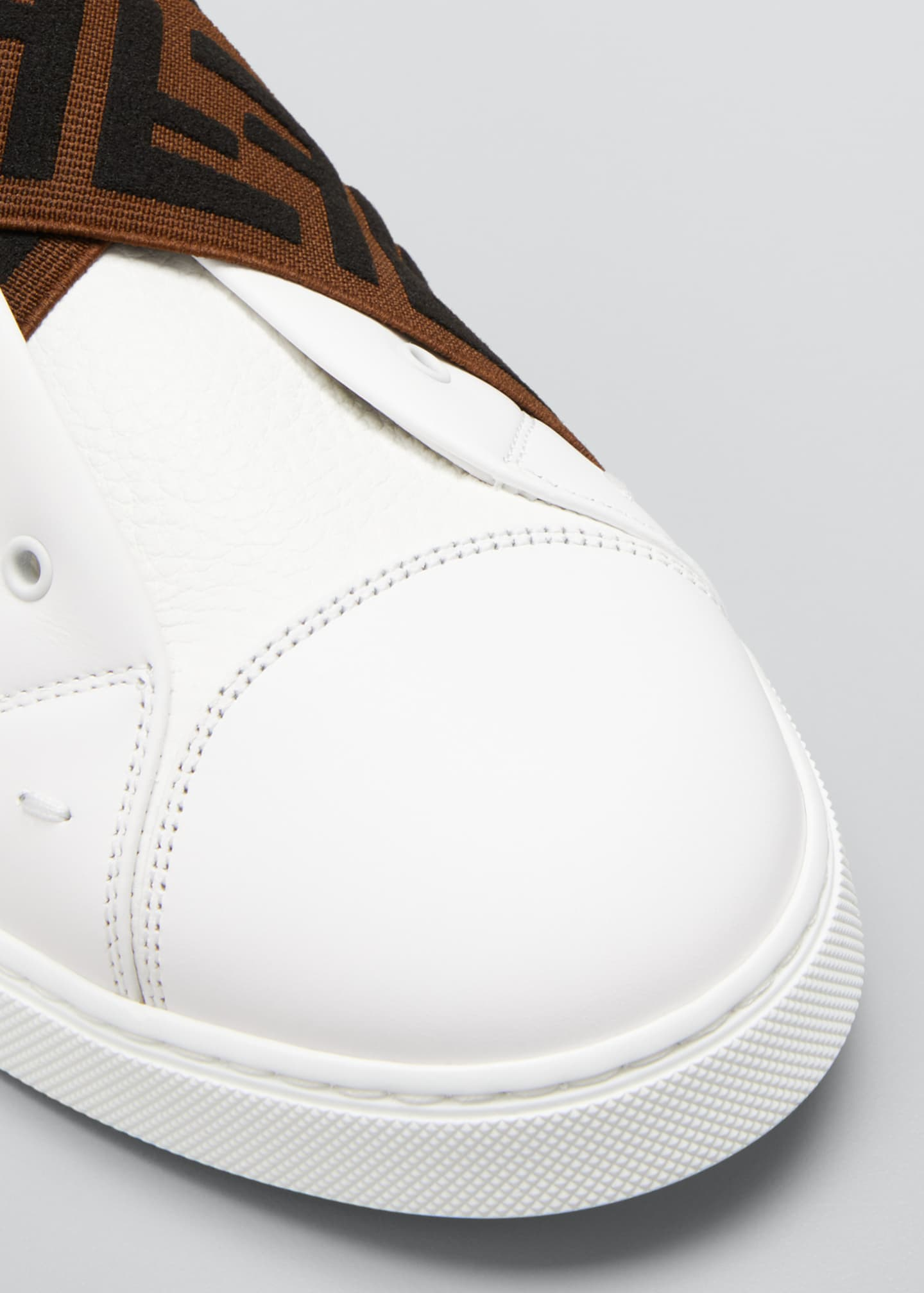 Image 3 of 3: Men's Laceless Leather FF-Strap Sneakers