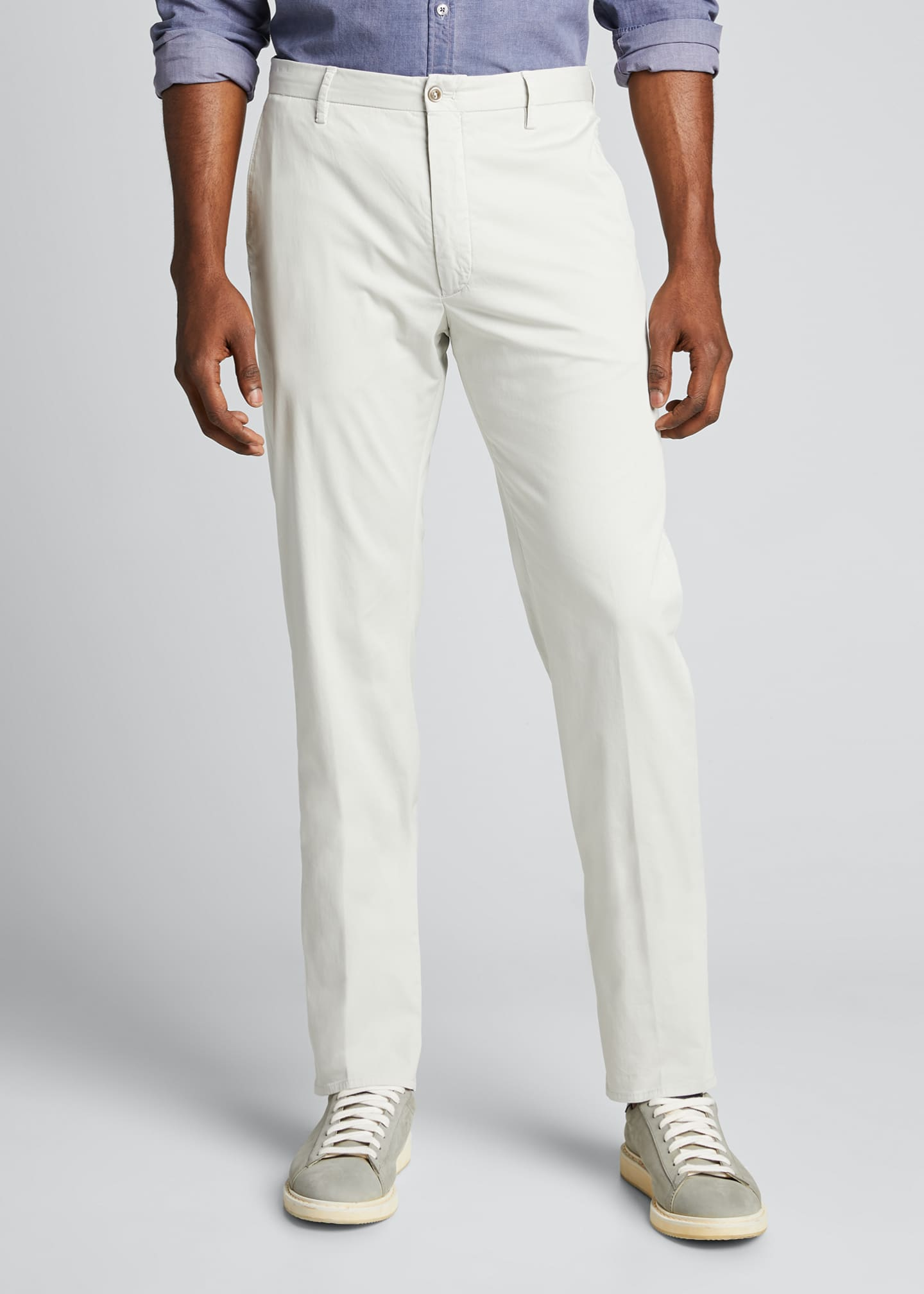 Image 3 of 5: Men's Garment Dye Stretch Poplin Pants