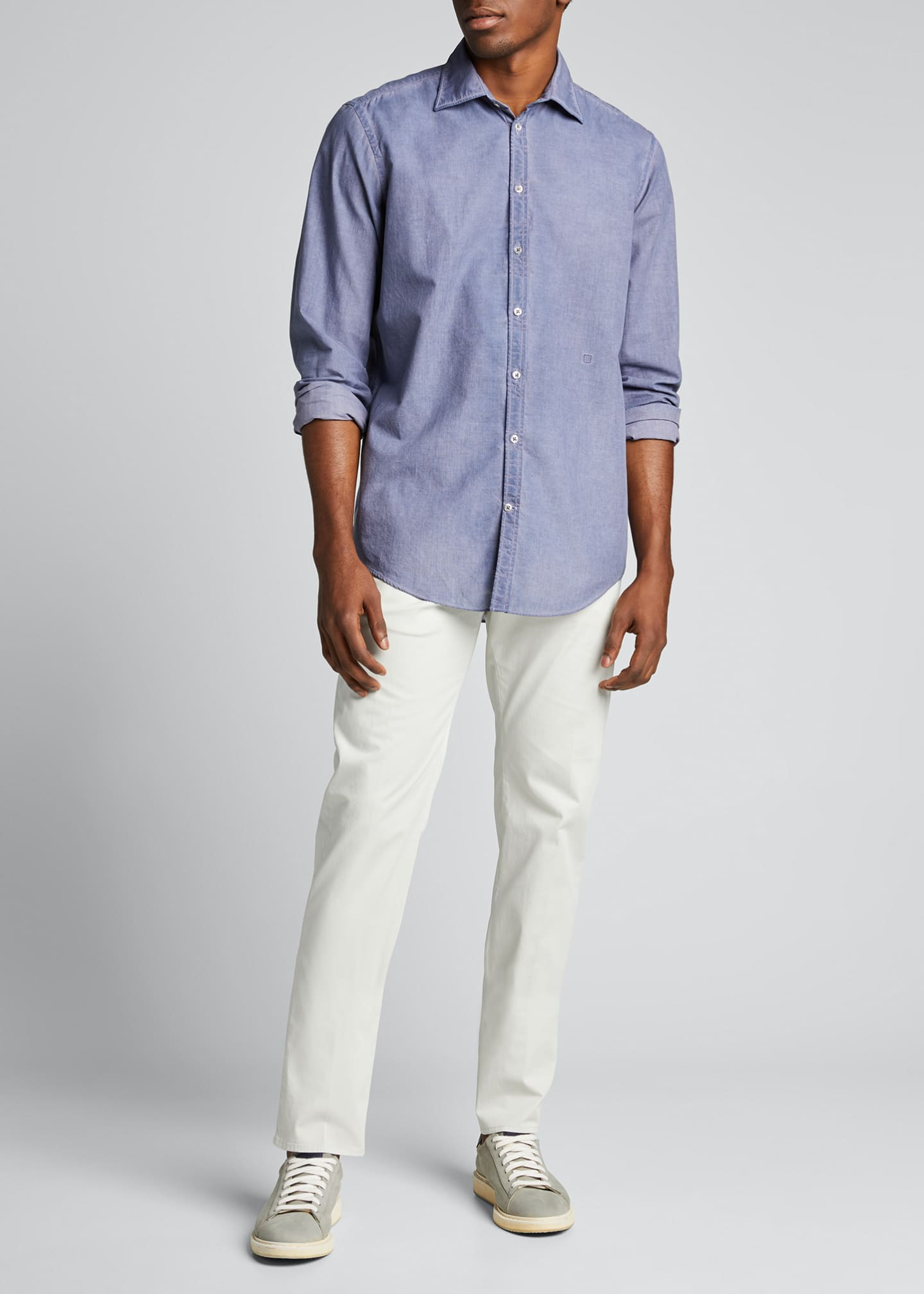 Image 1 of 5: Men's Garment Dye Stretch Poplin Pants