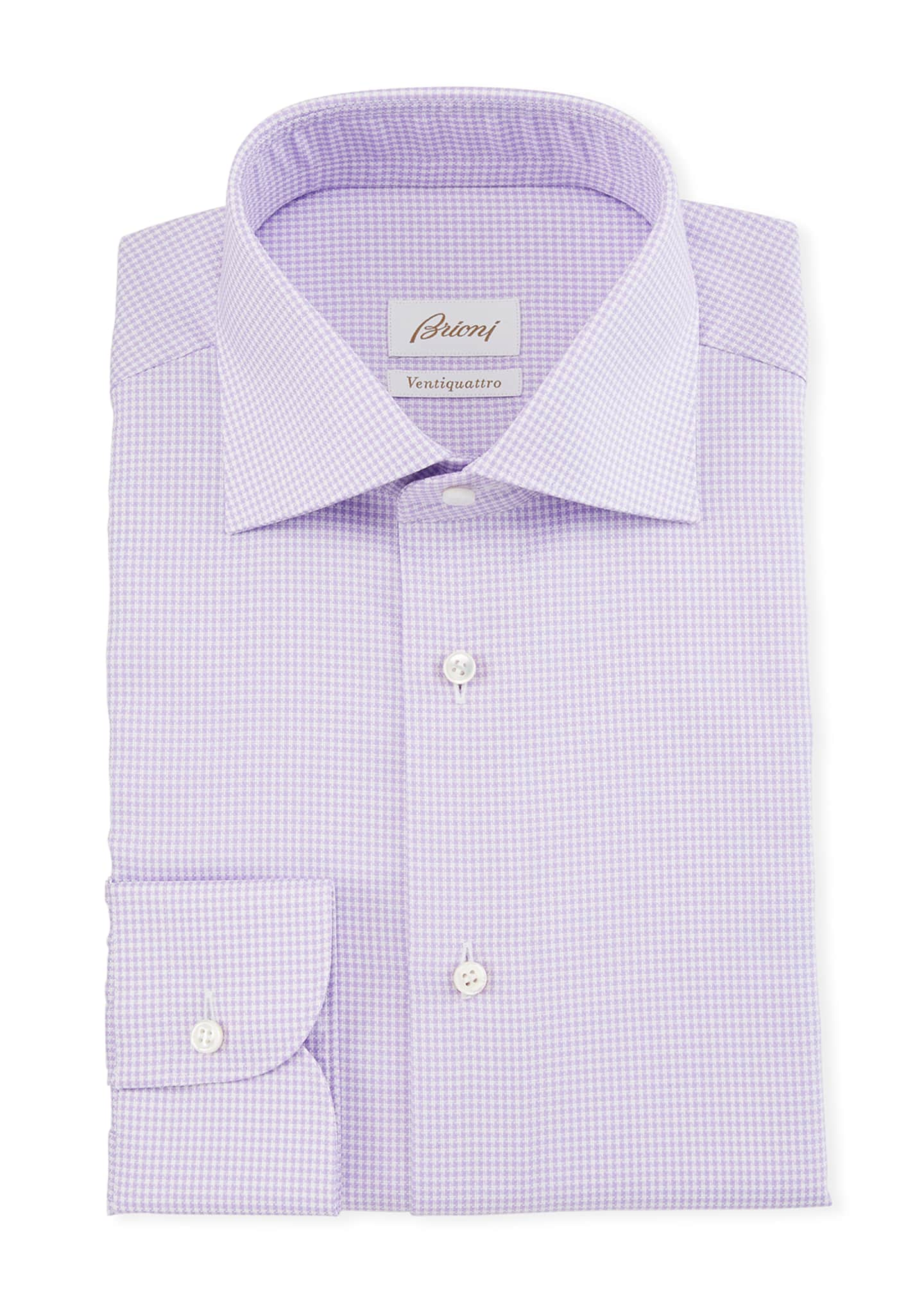 Image 1 of 2: Men's Ventiquattro Houndstooth Check Dress Shirt