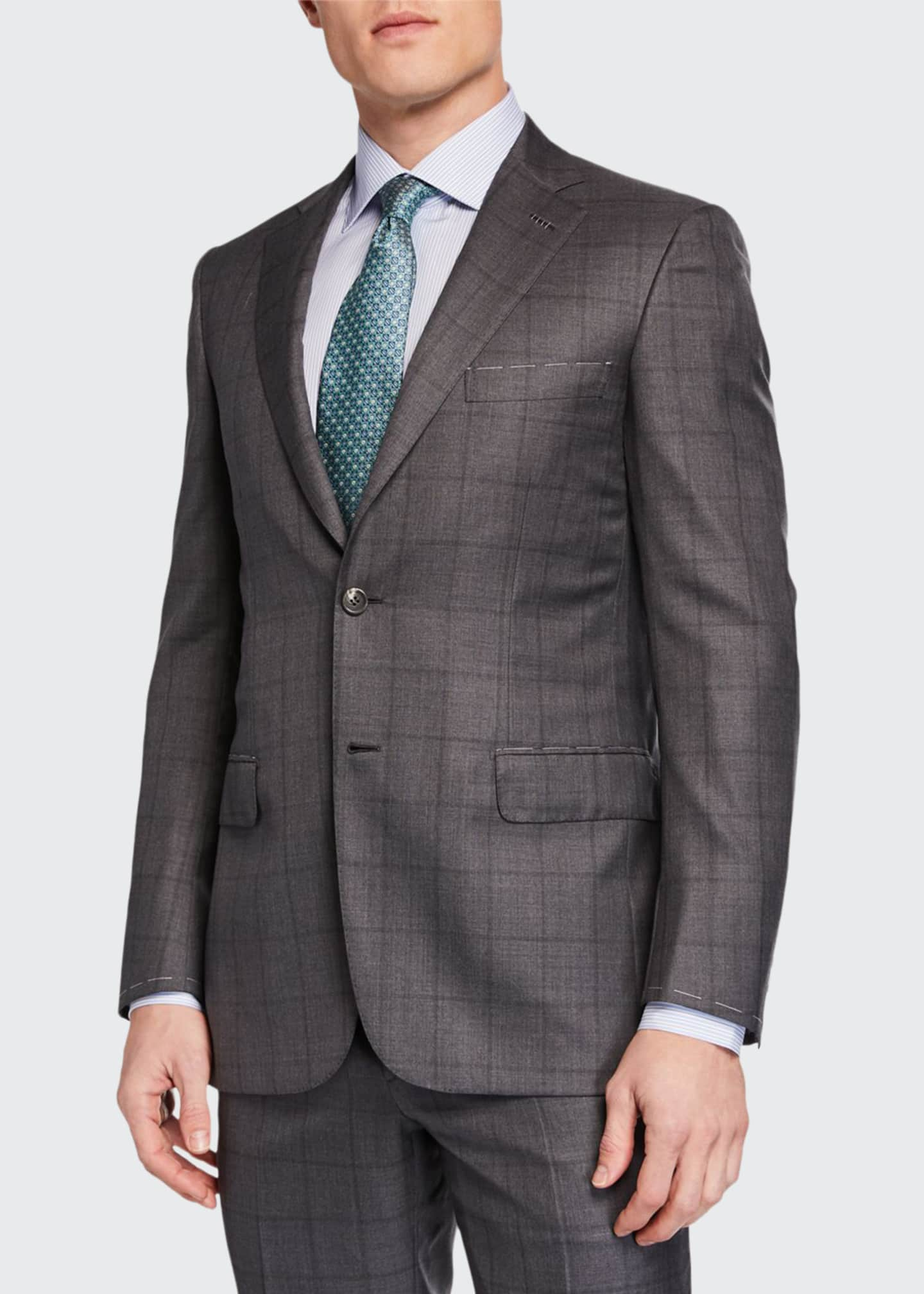 Brioni Men's Windowpane Two-Piece Suit