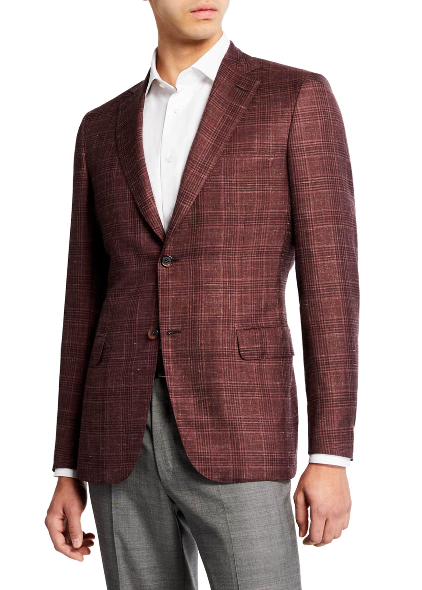 Brioni Men's Cashmere/Silk Plaid Sport Coat