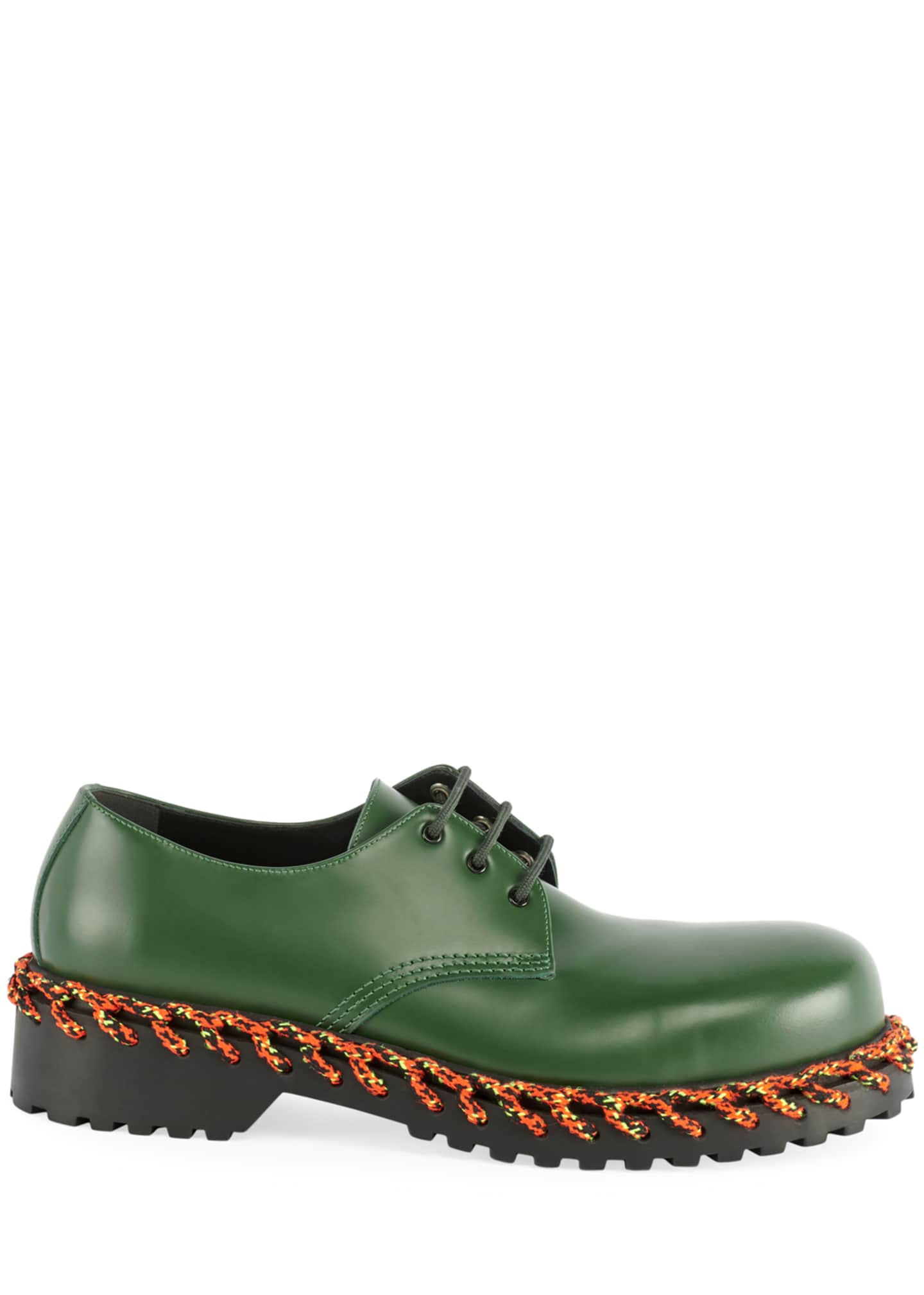 Image 2 of 3: Men's Braided Derby Shoes