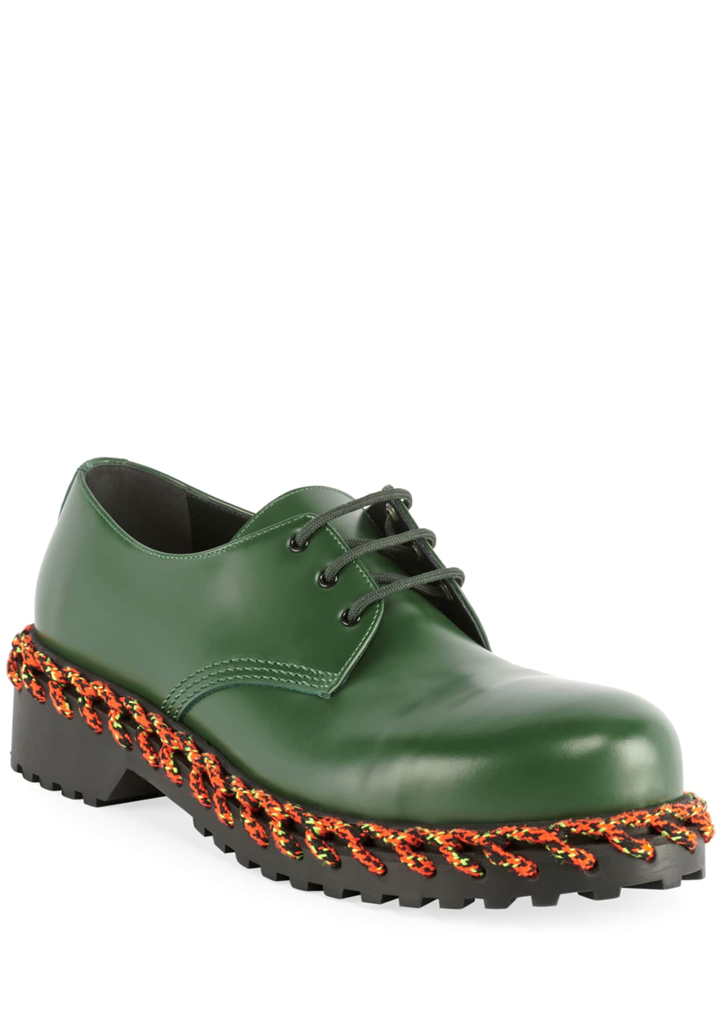 Image 1 of 3: Men's Braided Derby Shoes
