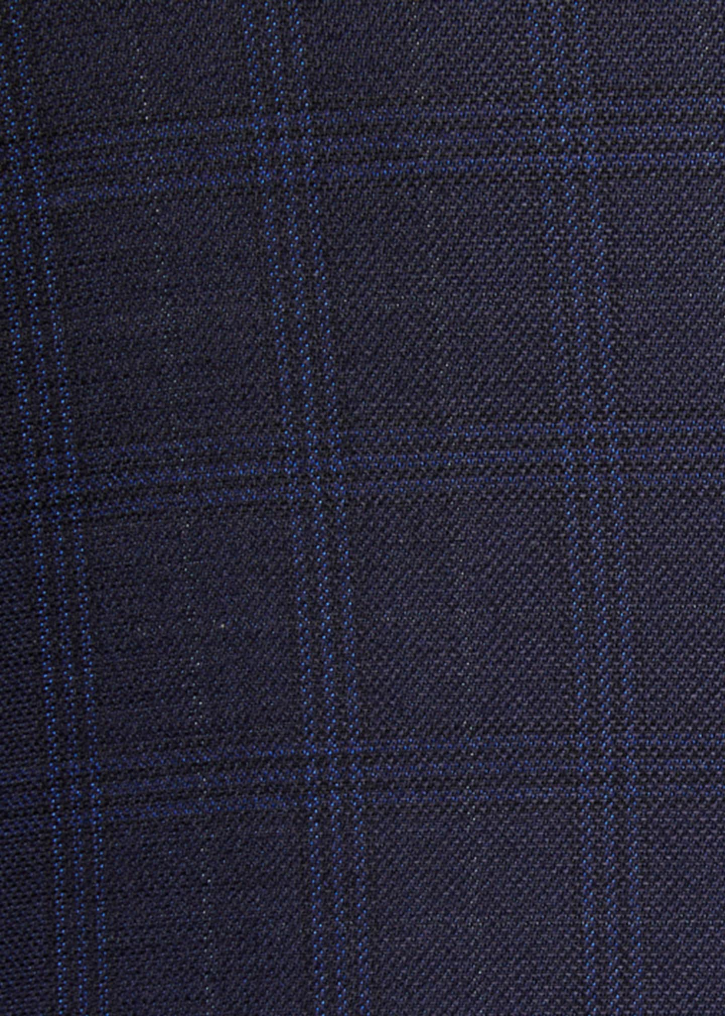 Image 3 of 3: Men's Plaid Wool-Silk Two-Button Jacket