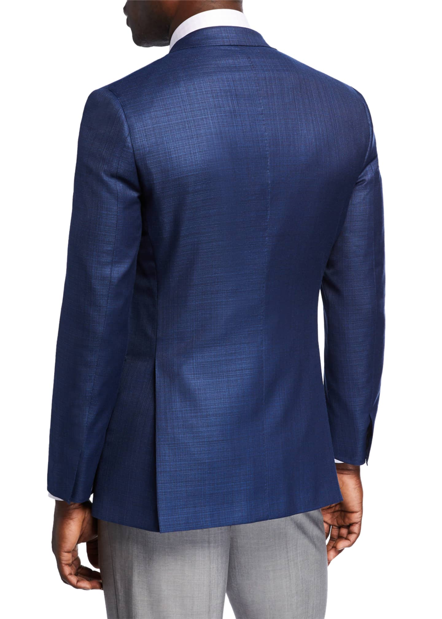 Image 2 of 3: Men's Textured Wool Two-Button Jacket