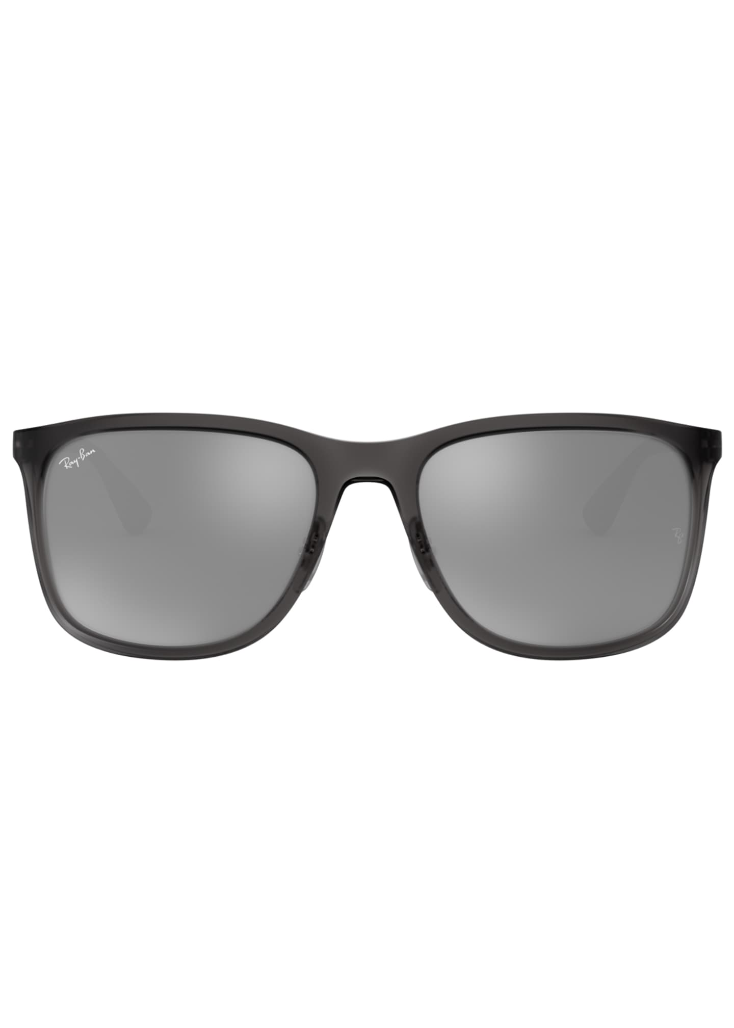 Image 2 of 2: Men's Square Mirrored Propionate Sunglasses