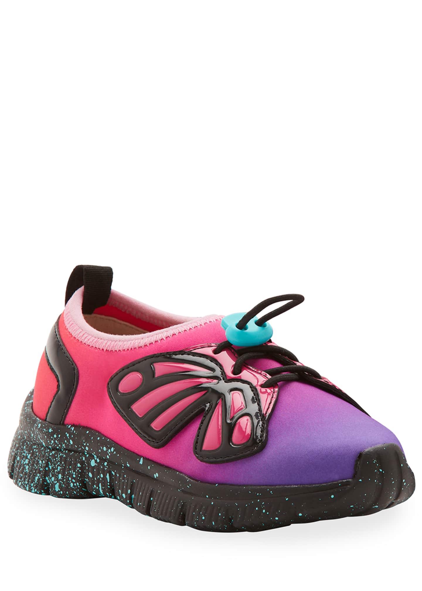 Sophia Webster Fly-Bi Gradient Scuba Mesh Butterfly-Wing