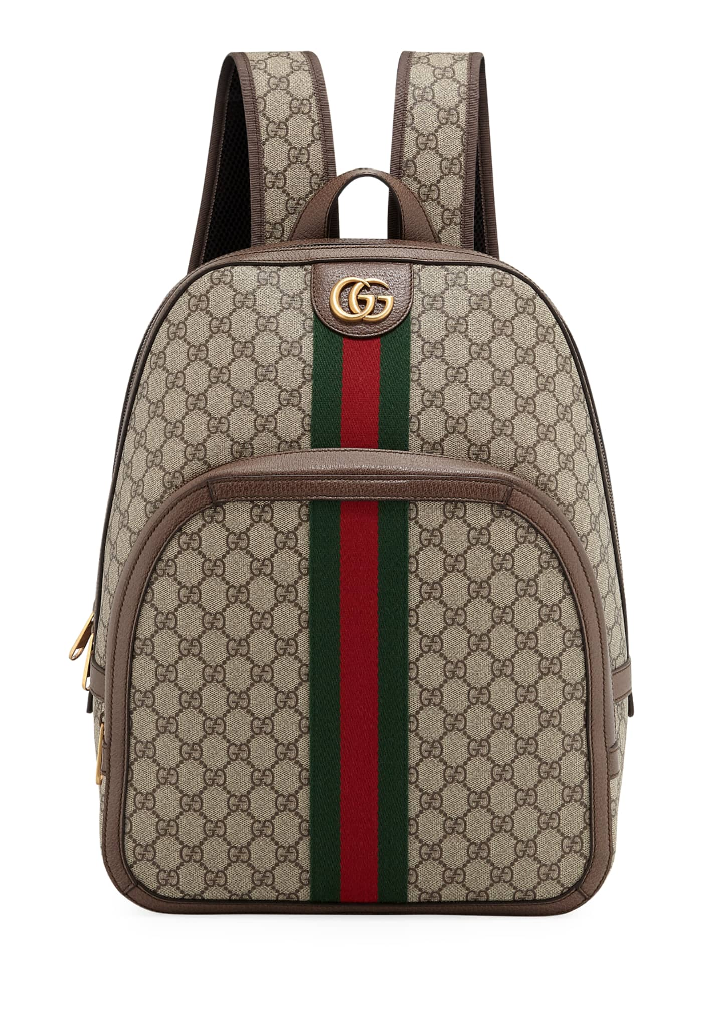 Gucci Men's GG Supreme Medium Canvas Backpack