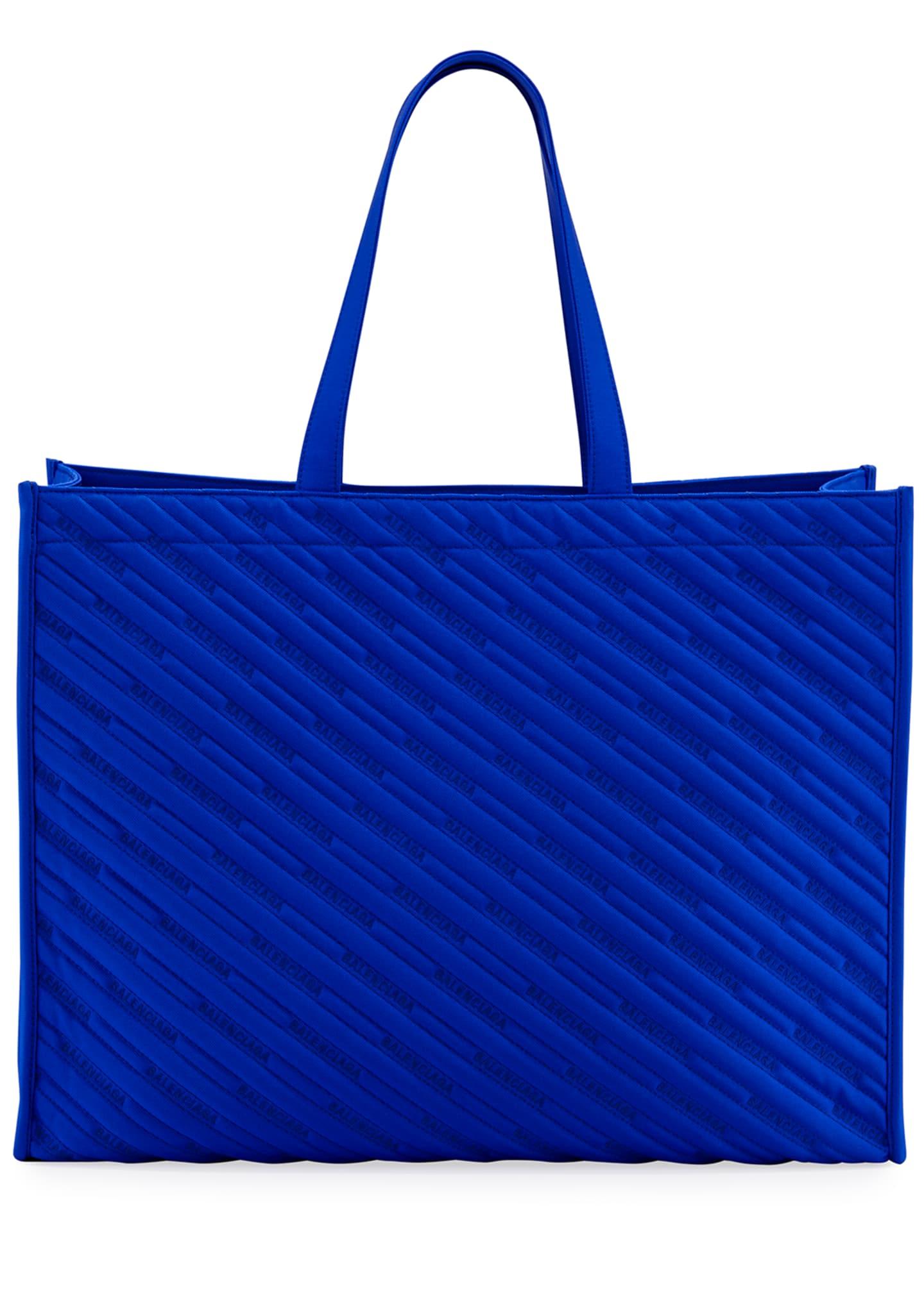Balenciaga Men's Market Shopper Nylon Tote Bag