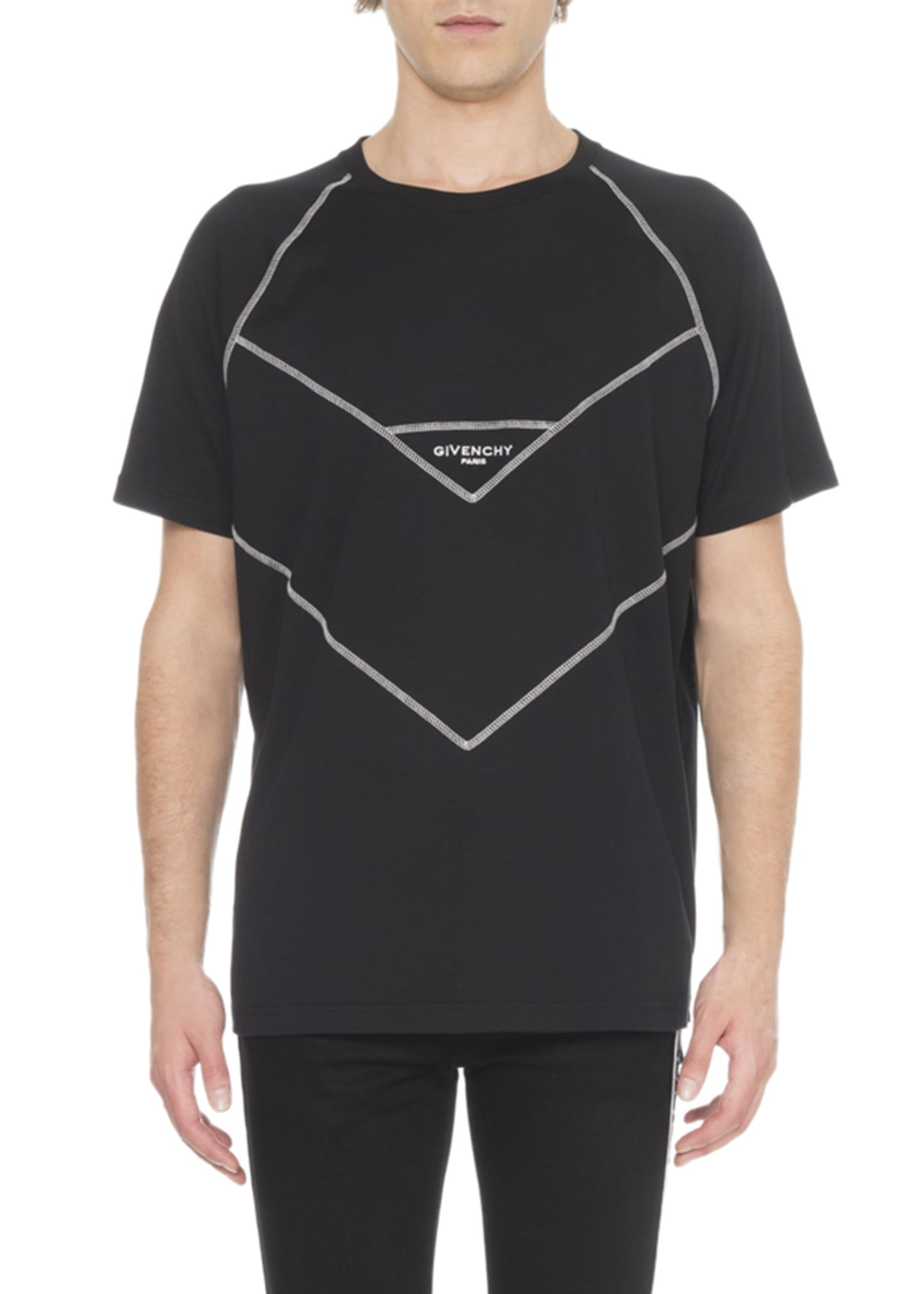 Givenchy Men's V Cut Design T-Shirt