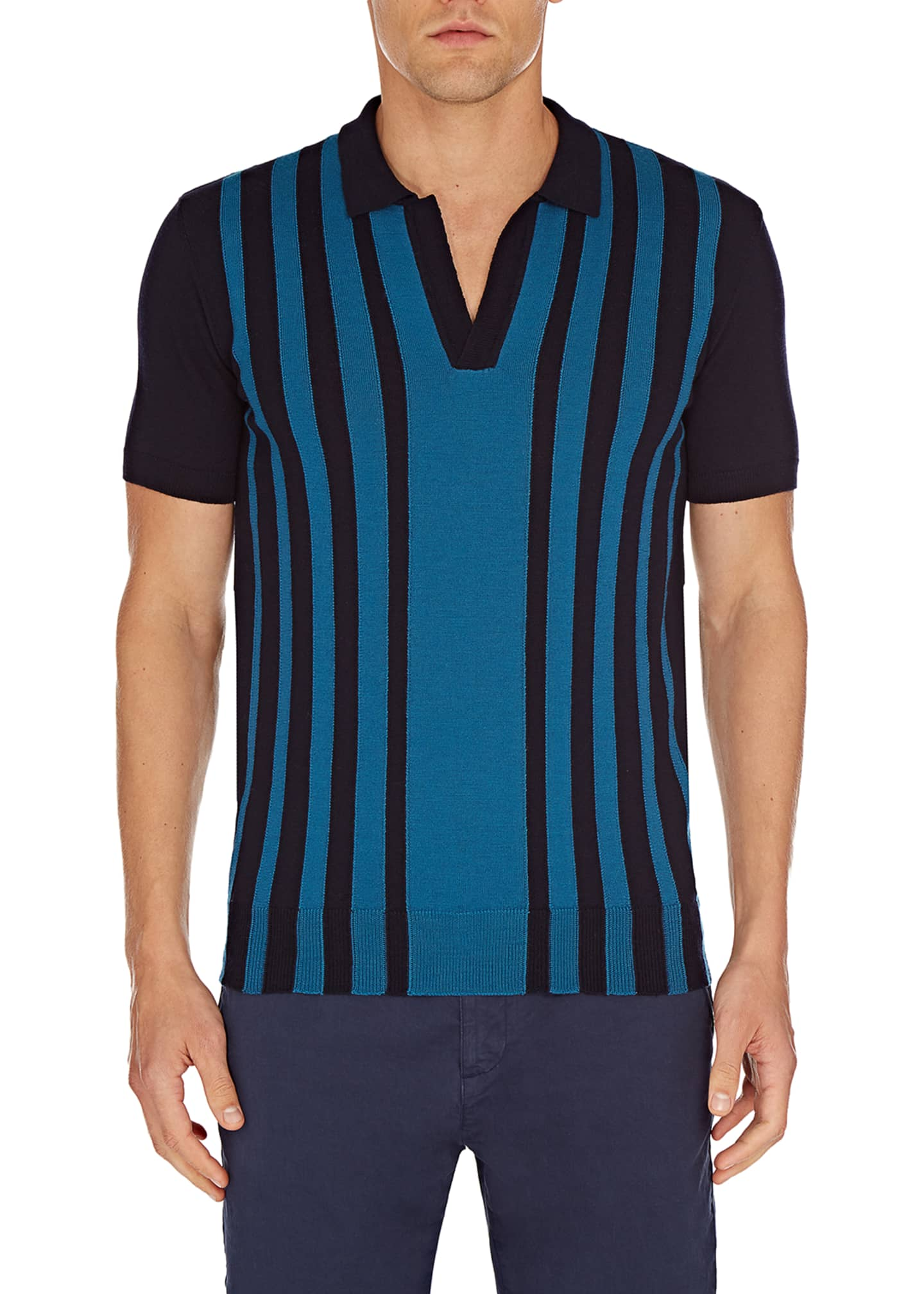 Image 1 of 2: Men's Horton Striped Wool Shirt