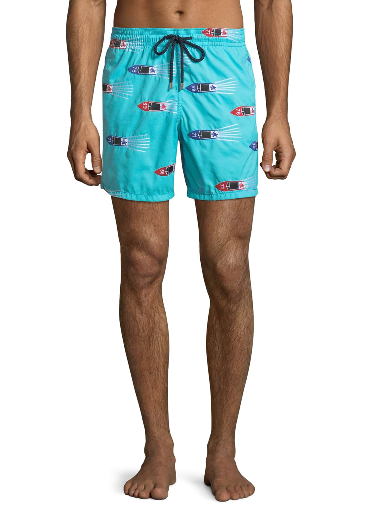 Image 1 of 3: Men's Mistral Graphic Print Swim Trunks