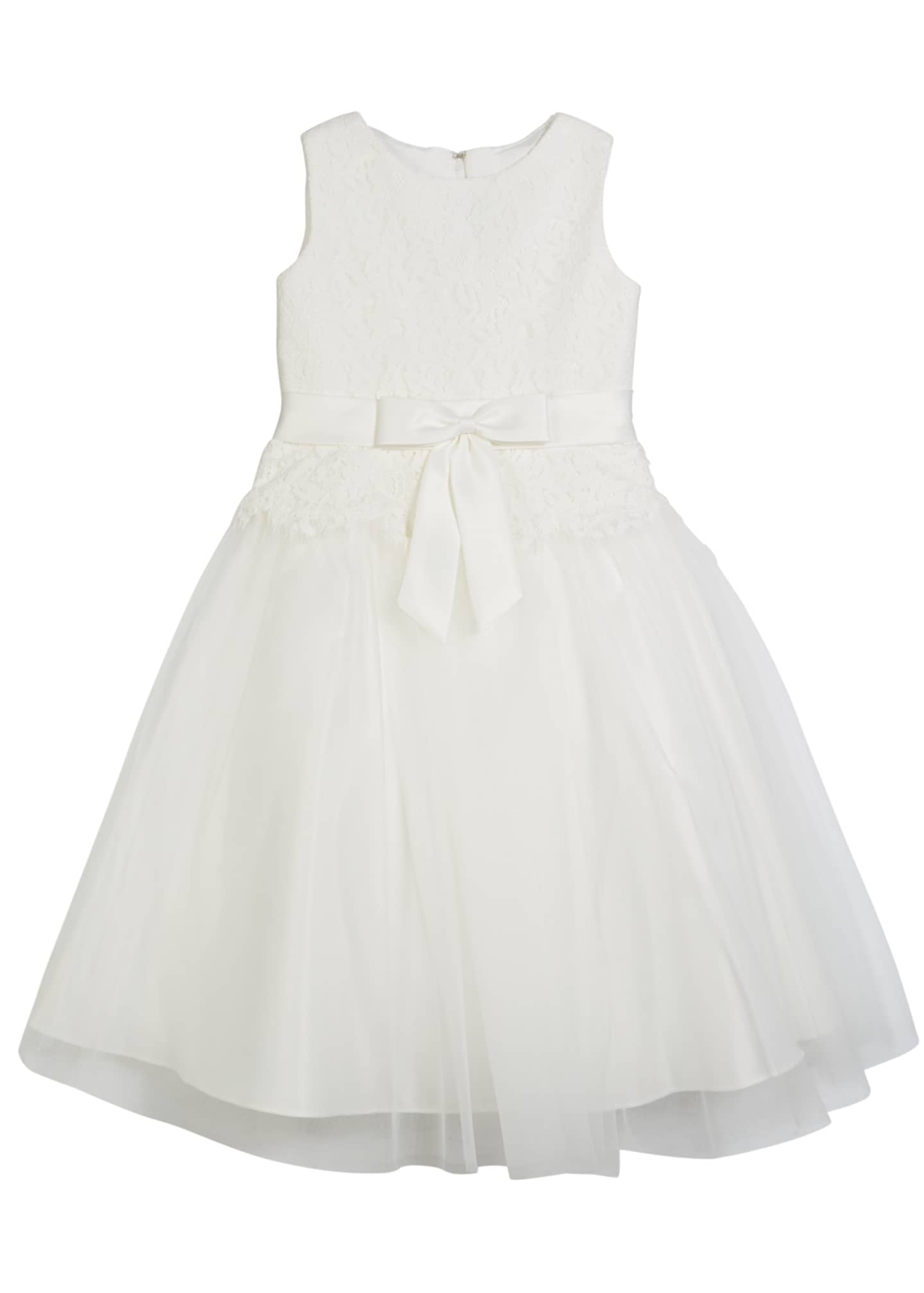 Joan Calabrese Lace Bodice & Tulle Skirt Tea-Length