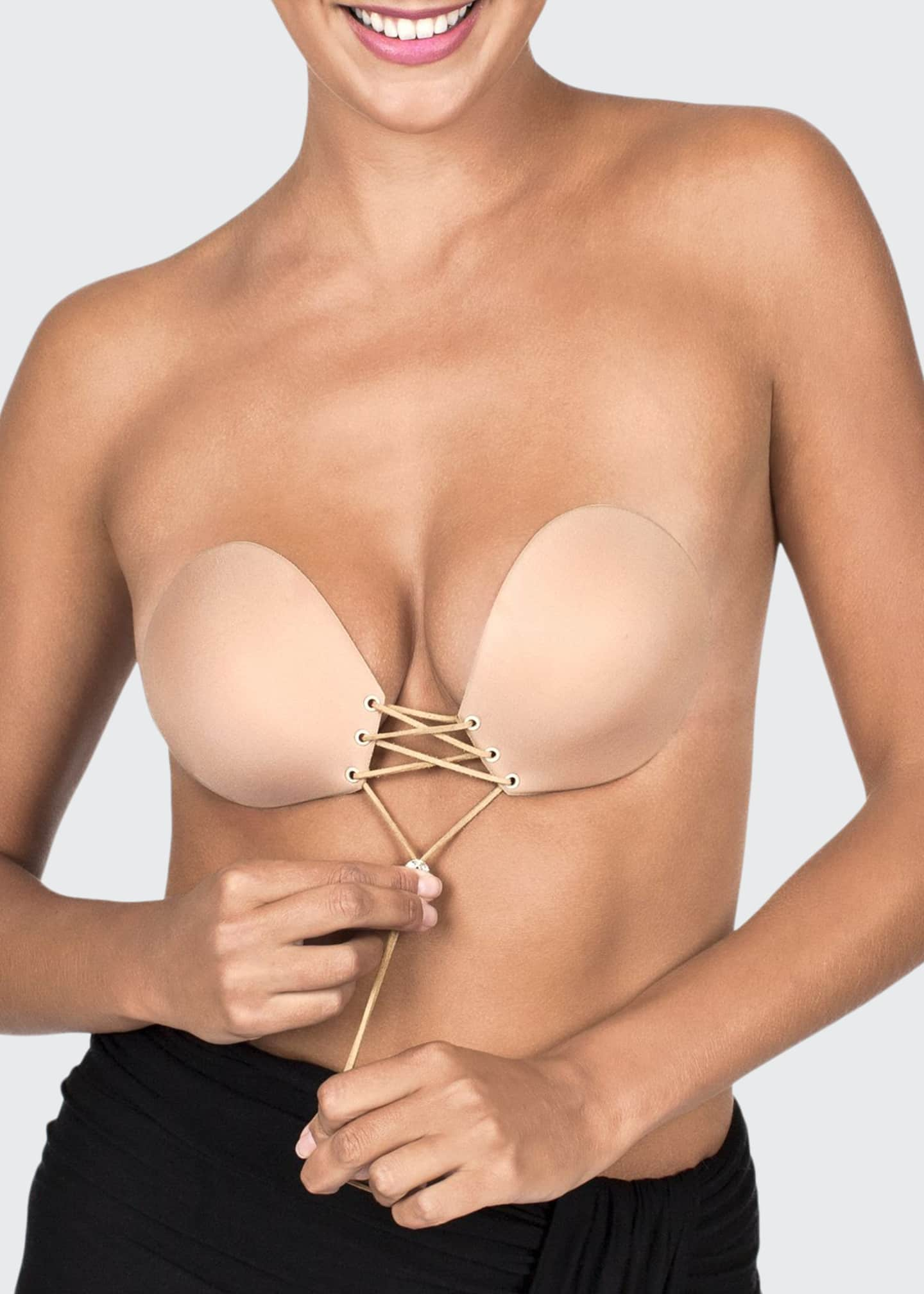 Fashion Forms Lace-Up Backless Strapless Adhesive Bra
