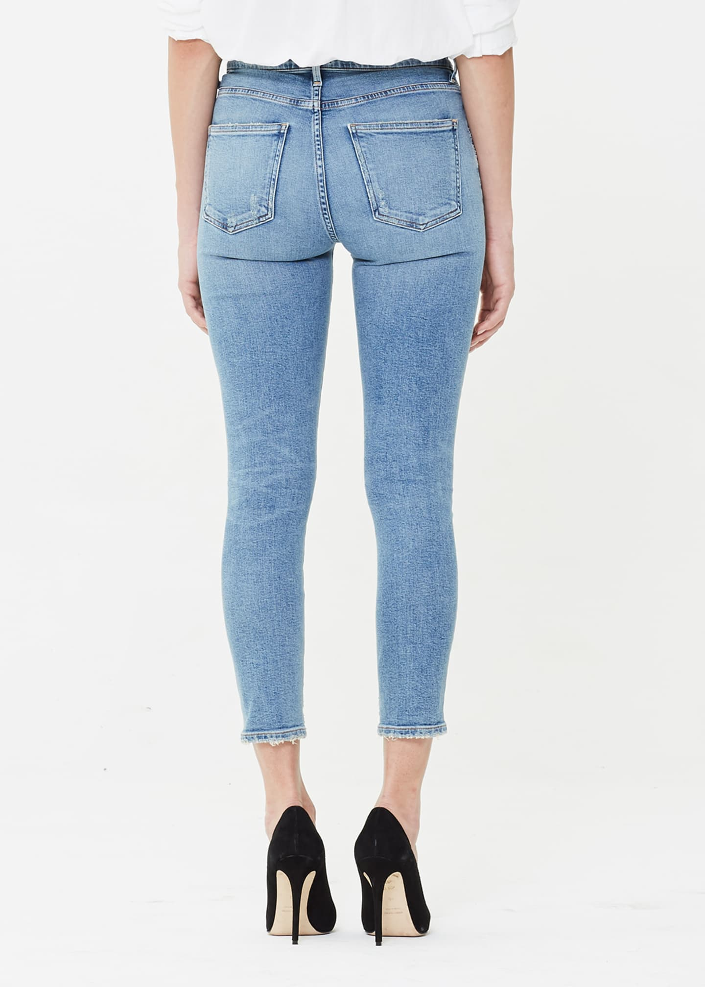Image 2 of 2: Rocket Crop High-Rise Skinny Jeans, Serenity