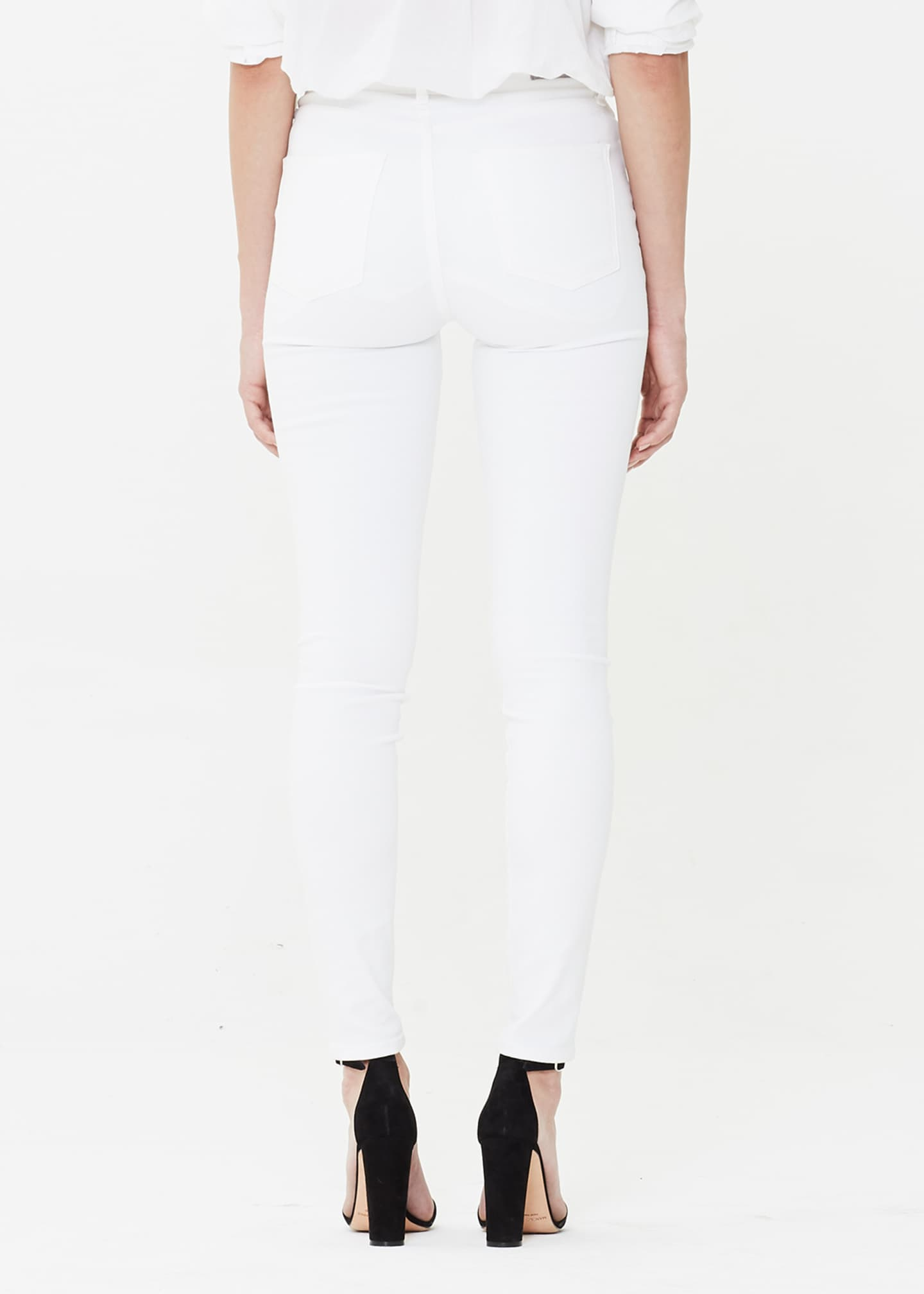 Image 2 of 2: Rocket Crop High-Rise Skinny Jeans, White Sculpt