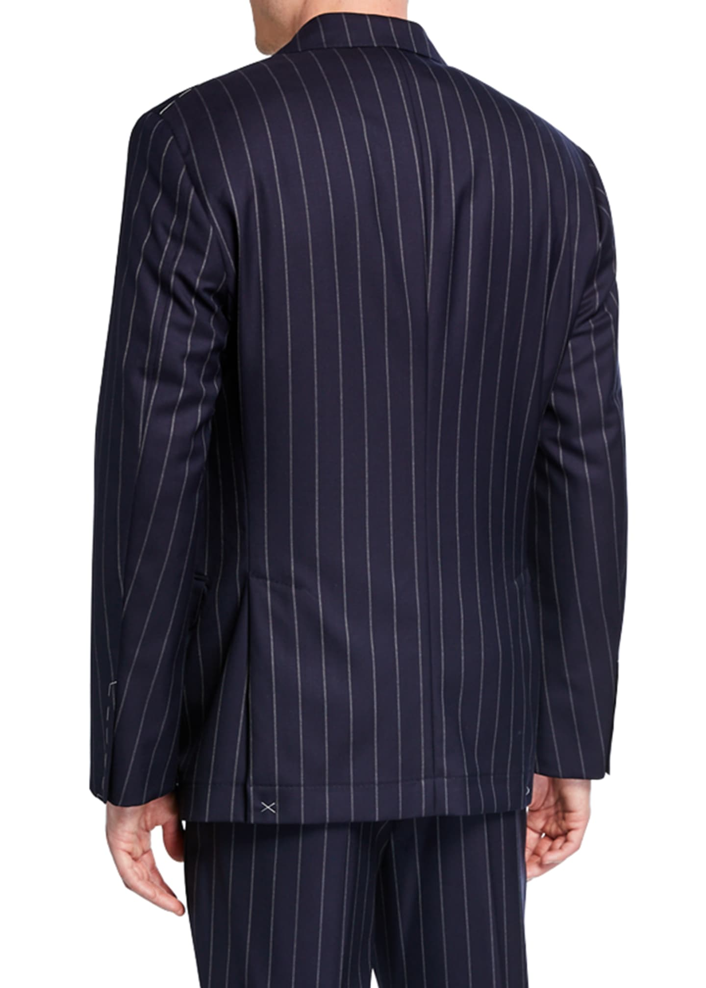 Image 3 of 4: Men's Wide Pinstriped Two-Piece Suit