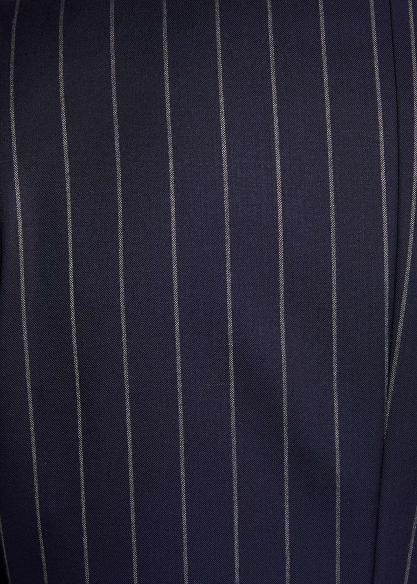 Image 4 of 4: Men's Wide Pinstriped Two-Piece Suit