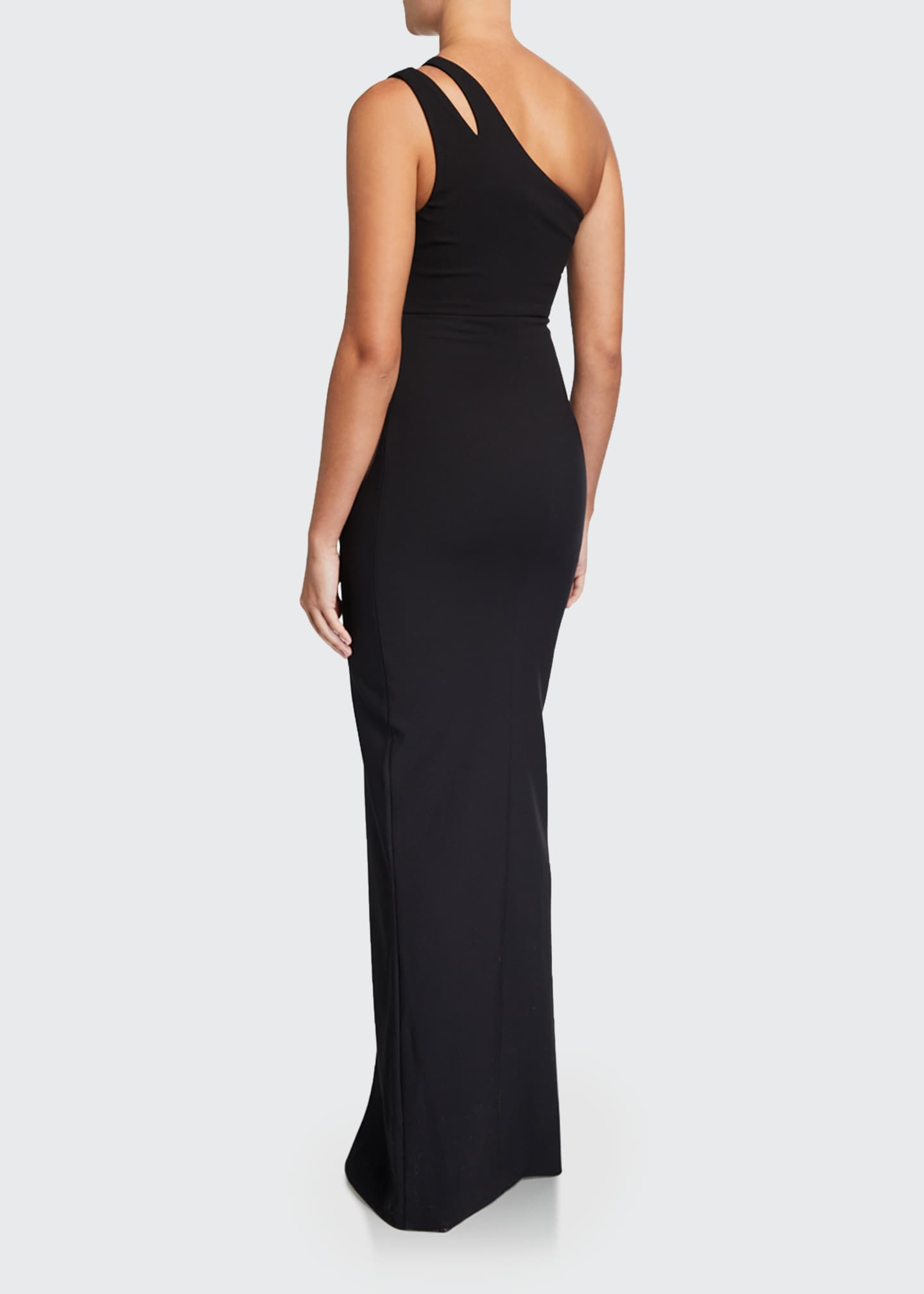 Image 2 of 2: Roxy One-Shoulder Body-Con Gown w/ Front Slit