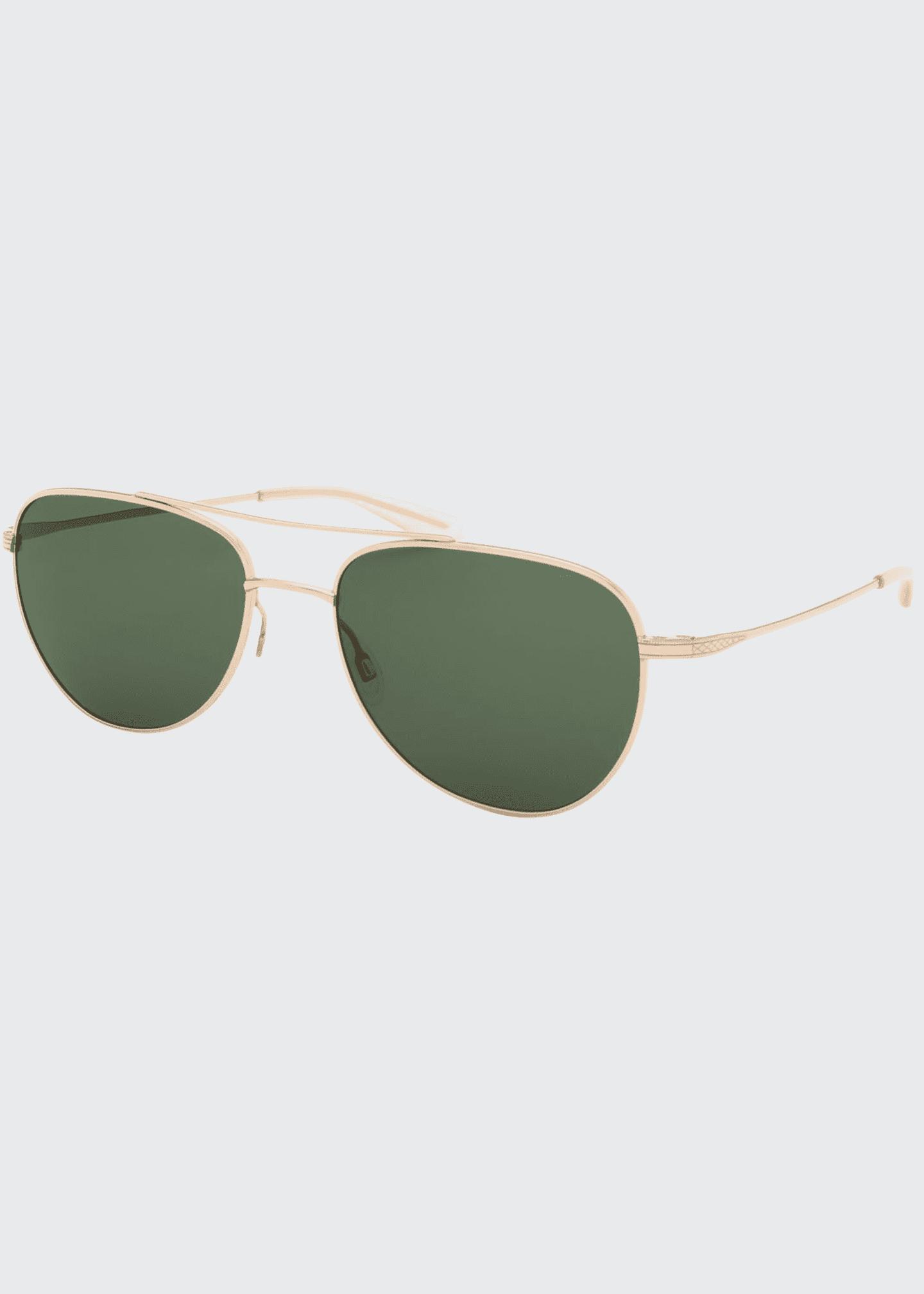 Barton Perreira Men's Aerial Metal Aviator Sunglasses
