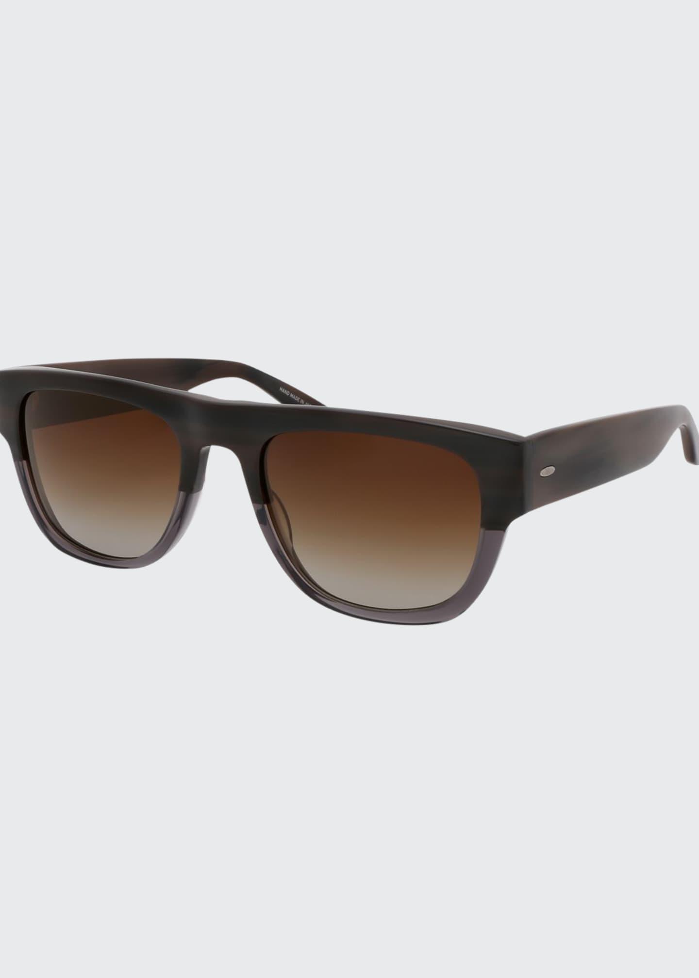 Barton Perreira Men's Kahuna Square Acetate Sunglasses