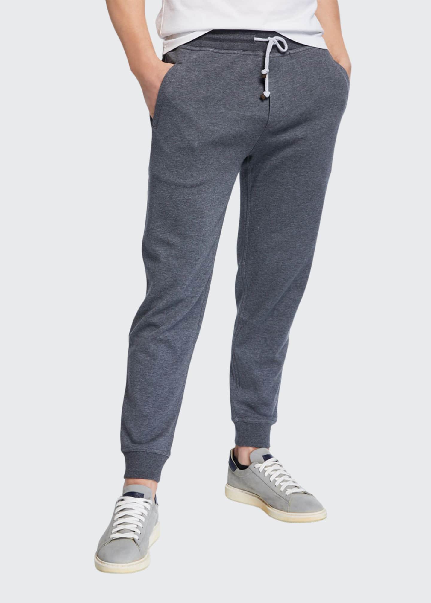 Brunello Cucinelli Men's Spa Heathered Sweatpants