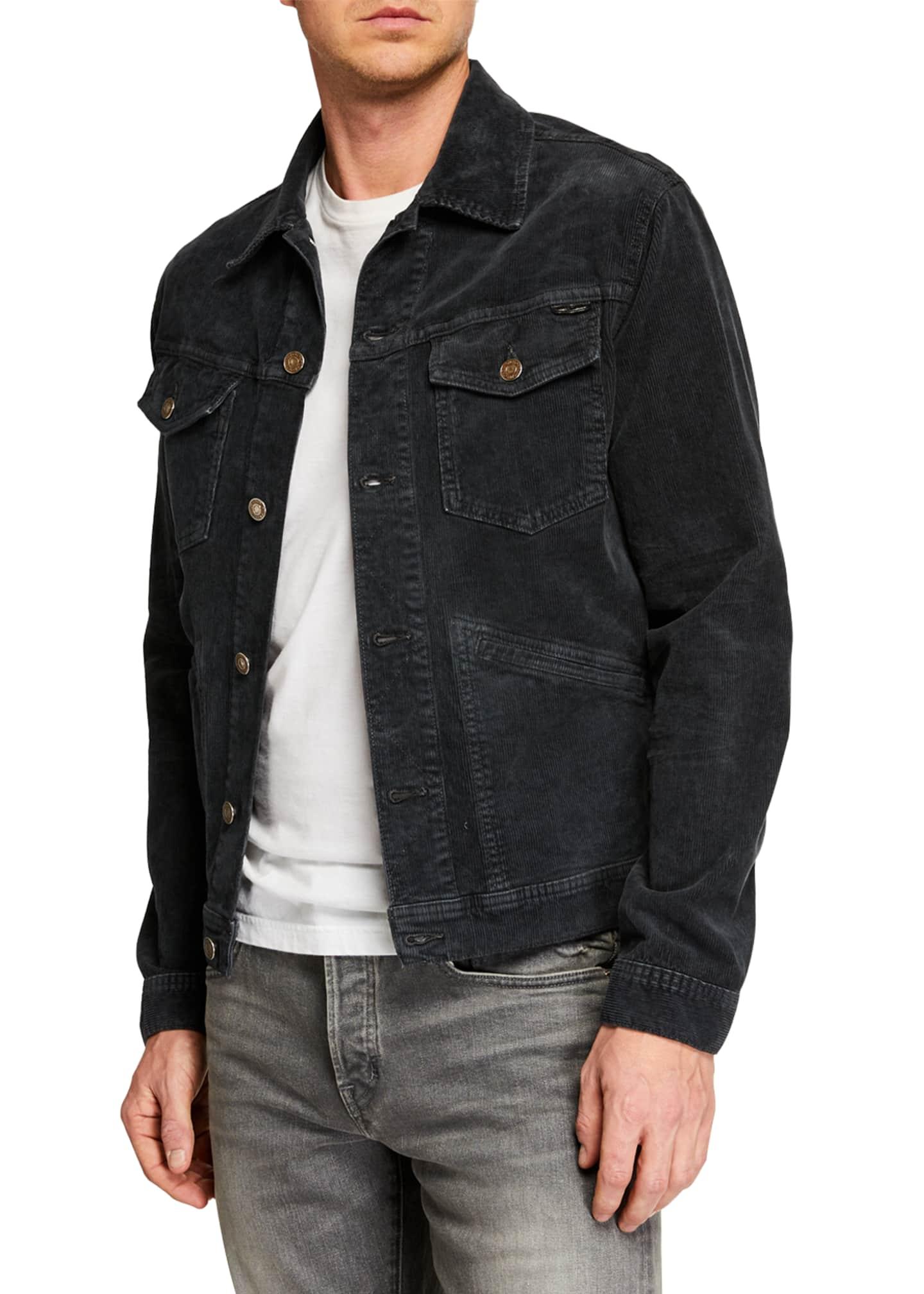 TOM FORD Men's Icon Corduroy Denim Jacket