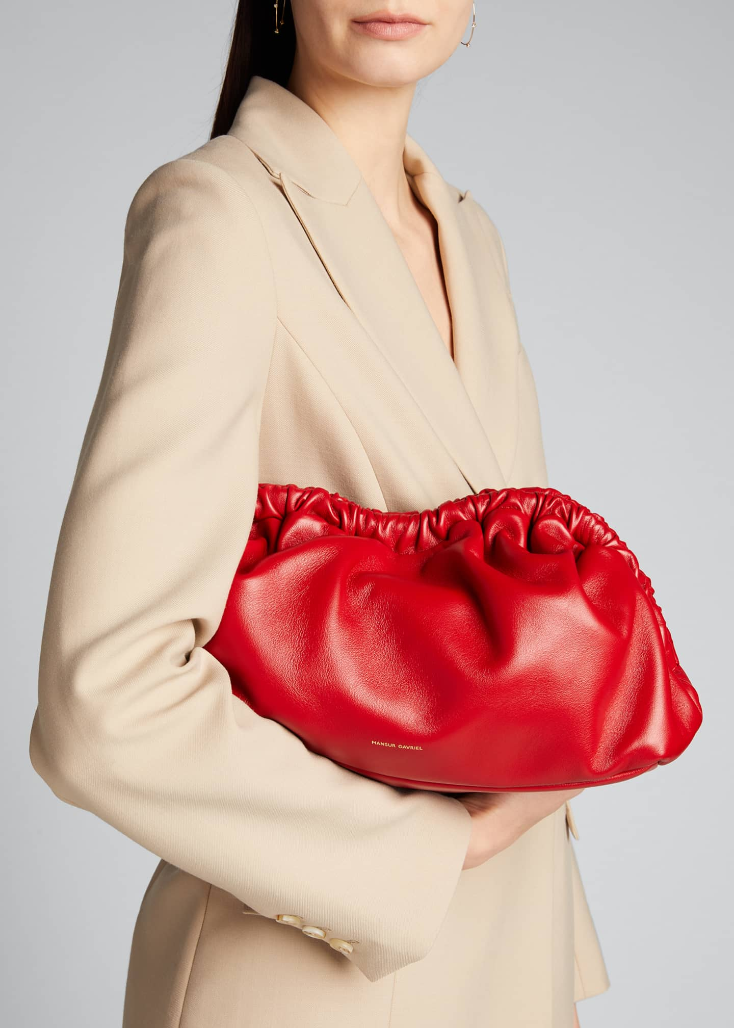 Image 2 of 5: Soft Ruffled Clutch Bag