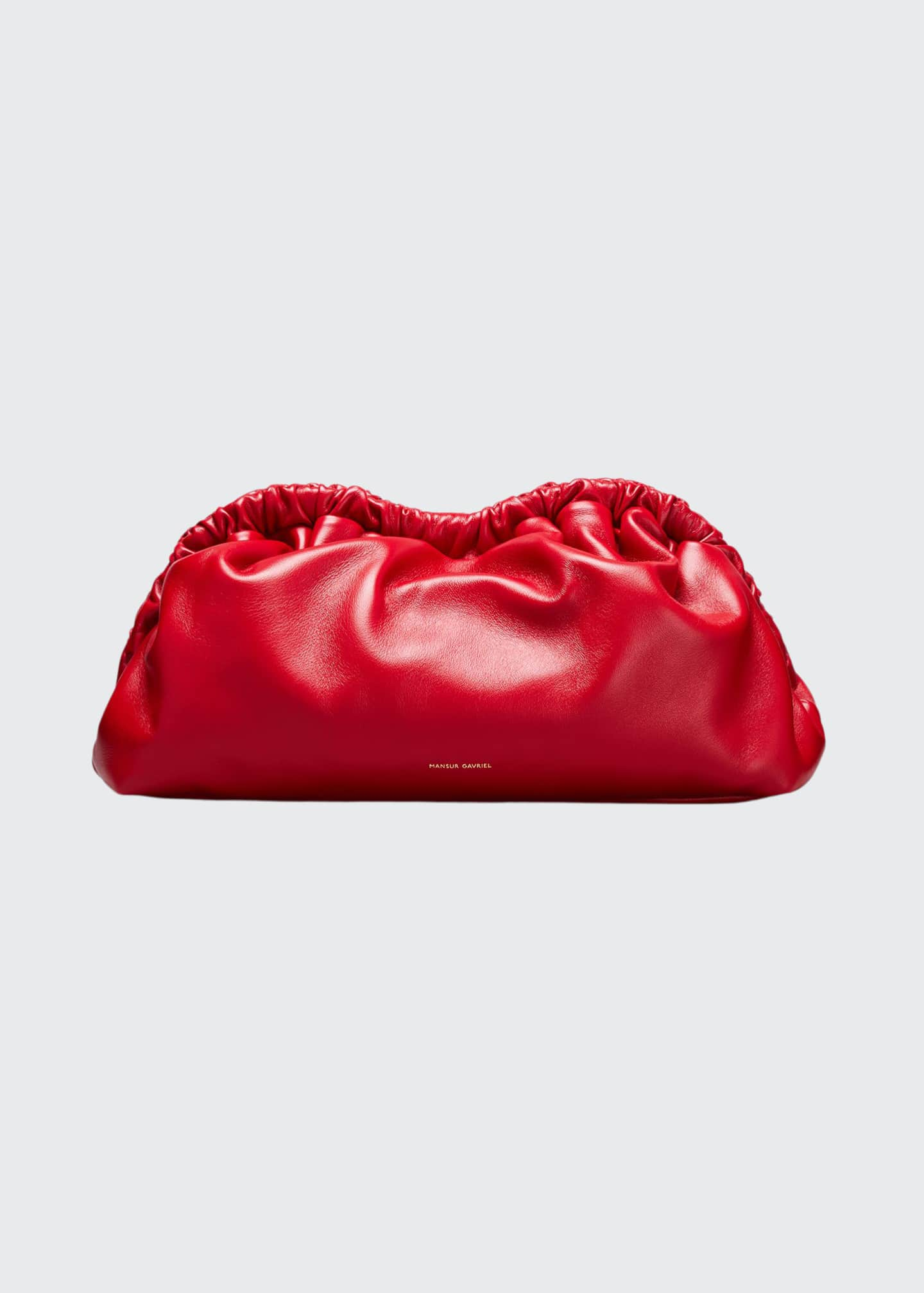 Image 1 of 5: Soft Ruffled Clutch Bag