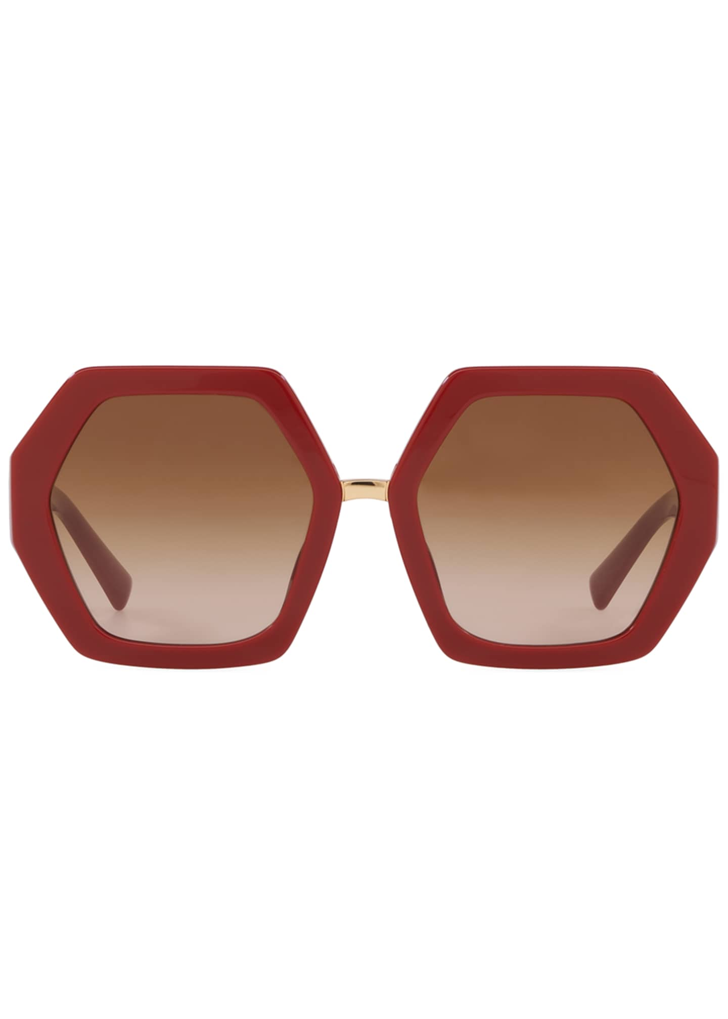 Image 2 of 2: Octagonal Acetate V-Inset Sunglasses