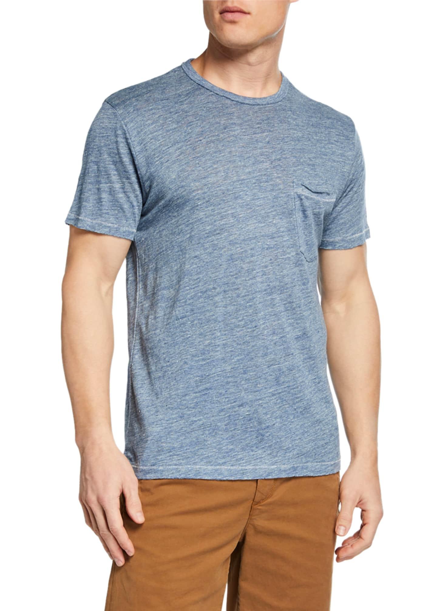 Rag & Bone Men's Owen Linen Pocket T-Shirt