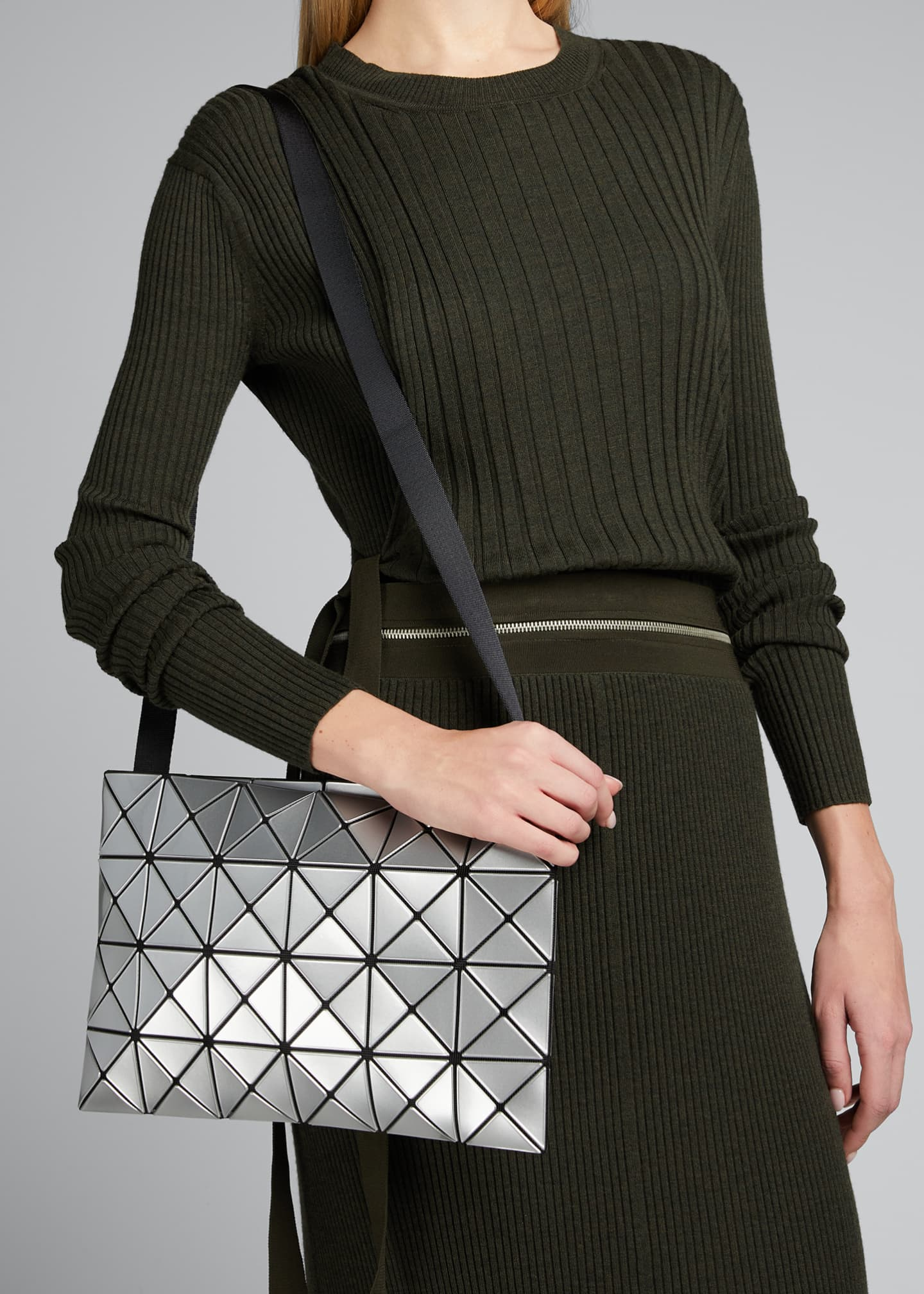 Image 2 of 5: Lucent Geo Tile Crossbody Clutch Bag