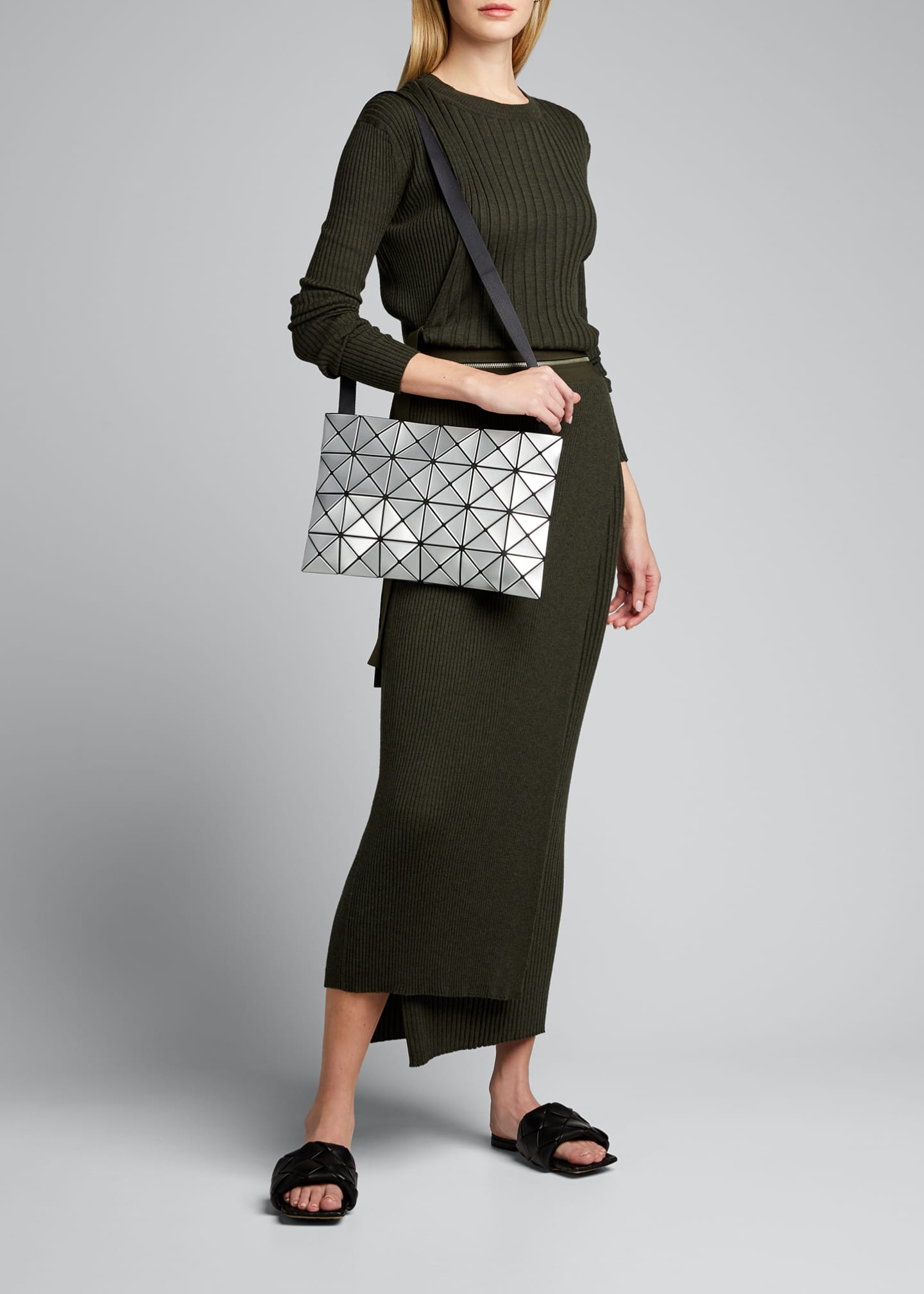 Image 5 of 5: Lucent Geo Tile Crossbody Clutch Bag