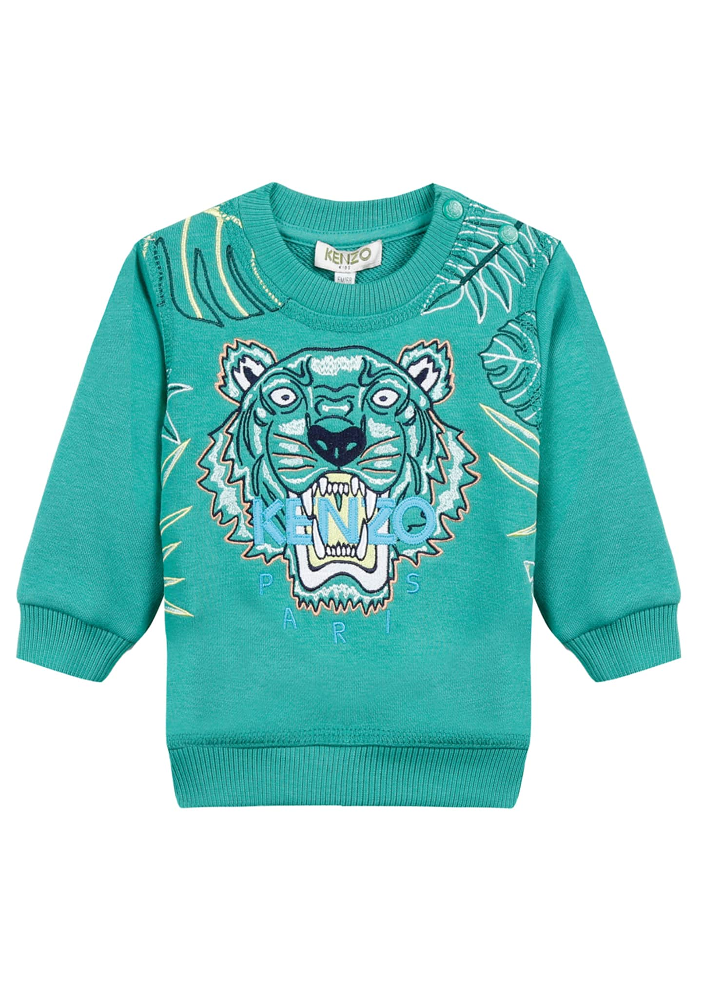 Kenzo Botanical Tiger Embroidered Sweatshirt, Size 12-18 Months