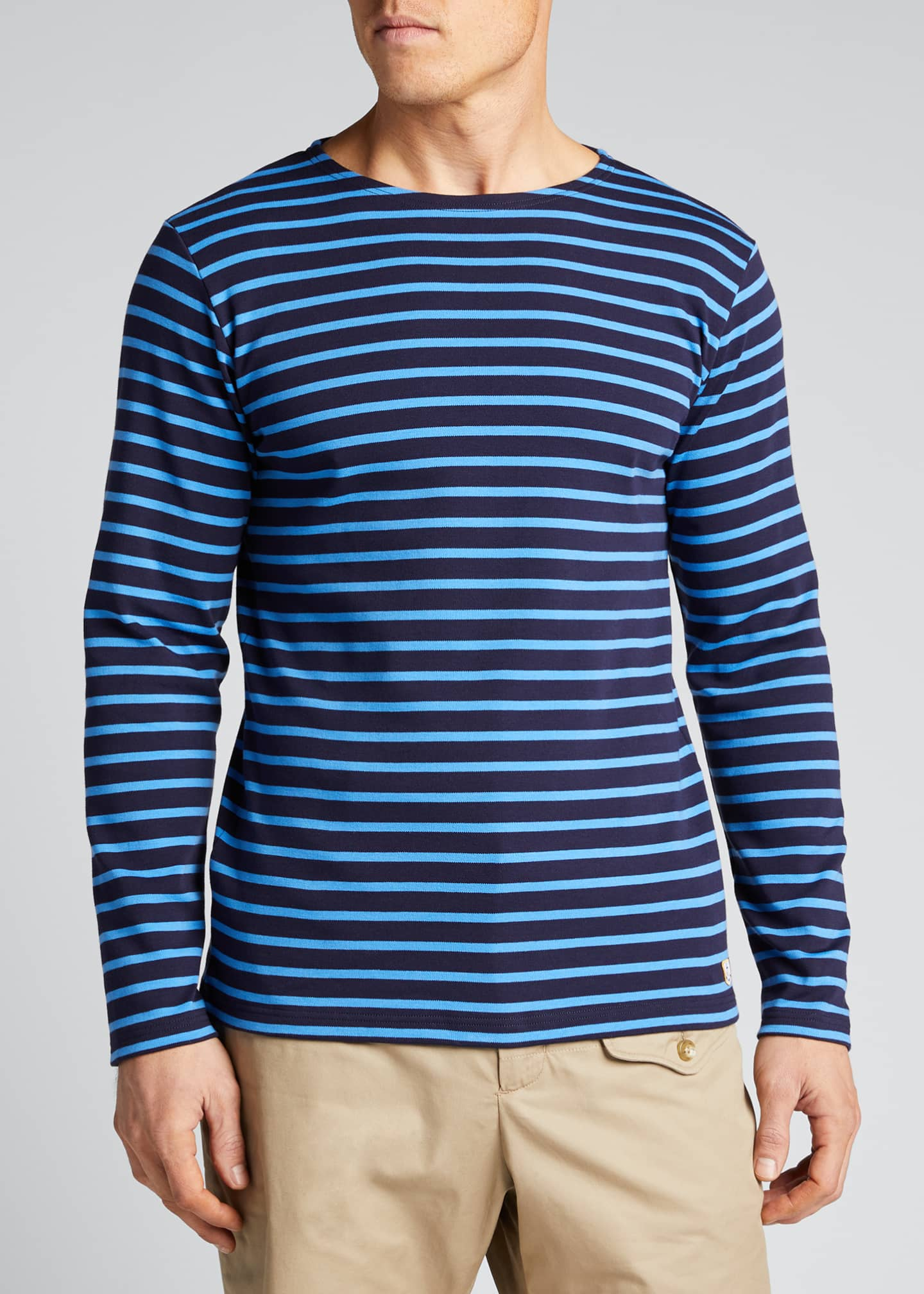 Image 3 of 5: Men's Marinire Heritage Striped Long-Sleeve T-Shirt