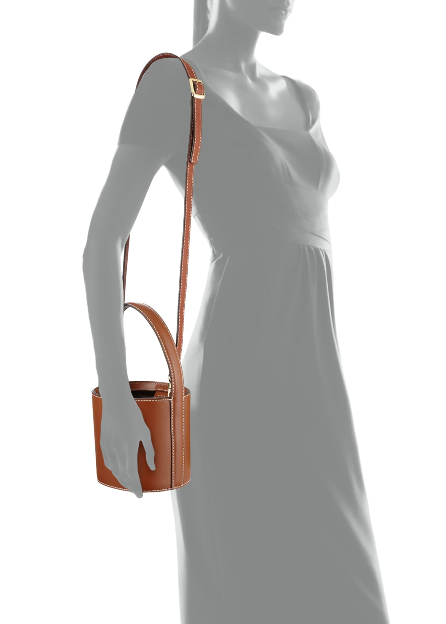 Image 3 of 3: Bissett Smooth Mini Bucket Bag