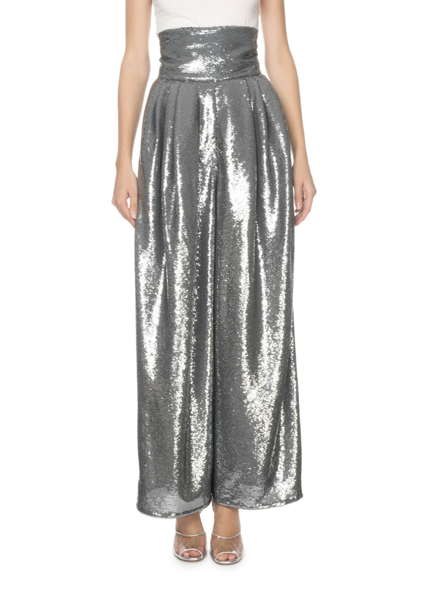 Marc Jacobs (Runway) Shiny Sequin Dressy Trousers