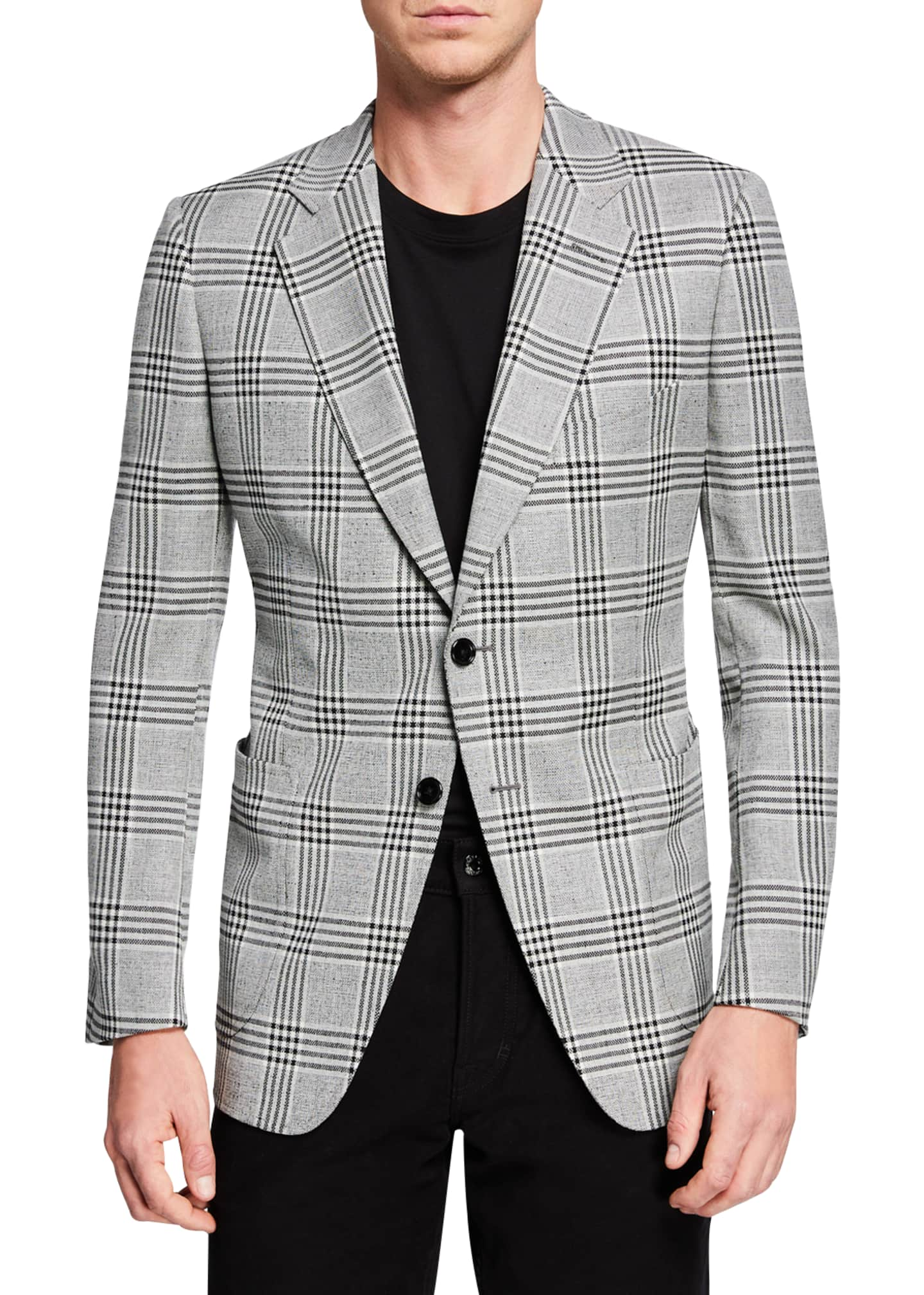Image 1 of 3: Men's O'Connor Plaid Two-Button Jacket