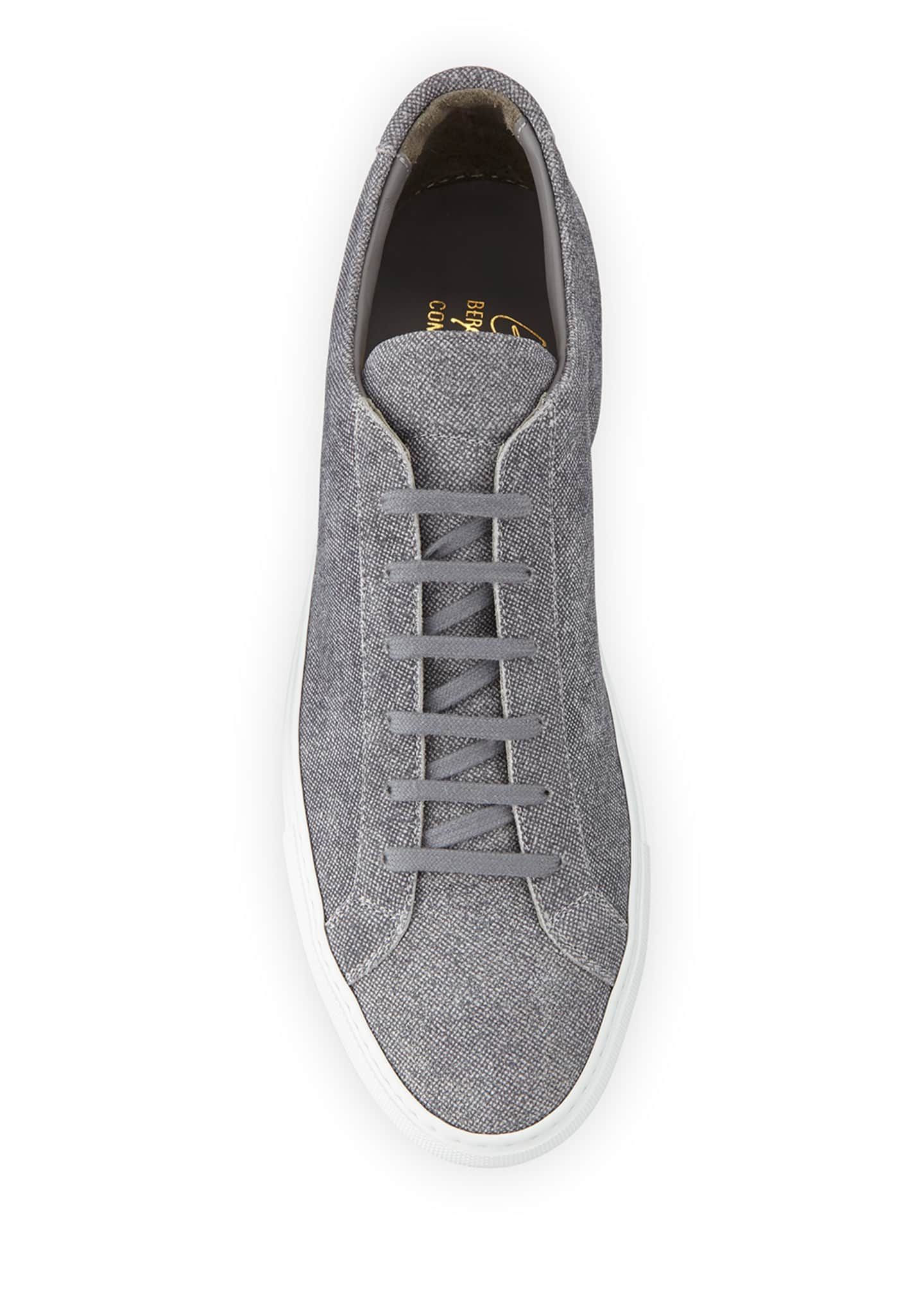 Image 2 of 4: Men's Achilles Patterned Suede Low-Top Sneakers