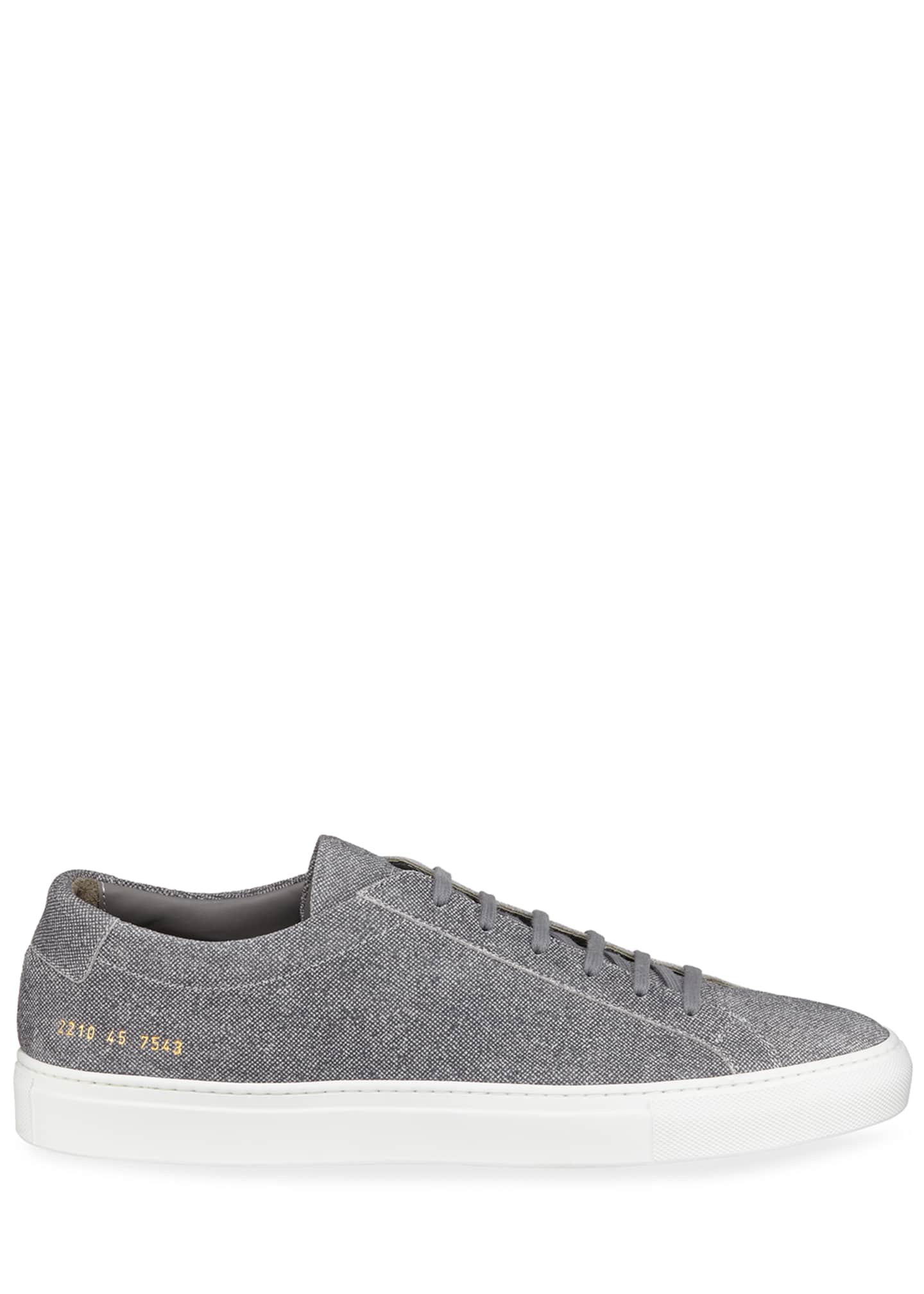 Image 3 of 4: Men's Achilles Patterned Suede Low-Top Sneakers
