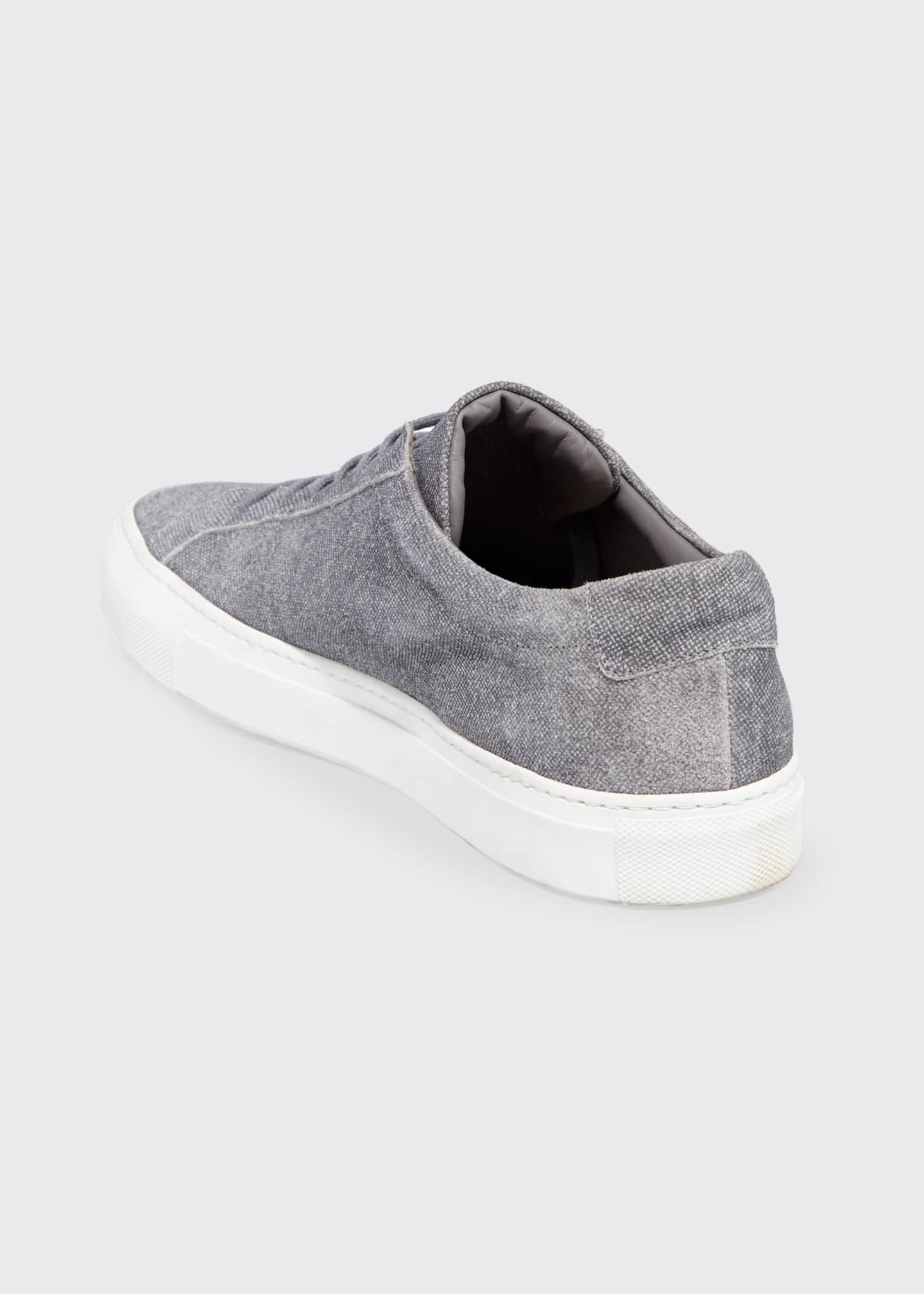 Image 4 of 4: Men's Achilles Patterned Suede Low-Top Sneakers