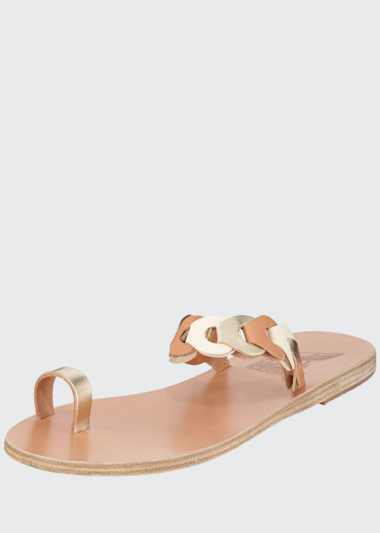 Ancient Greek Sandals Thalia Link Flat Leather Sandals