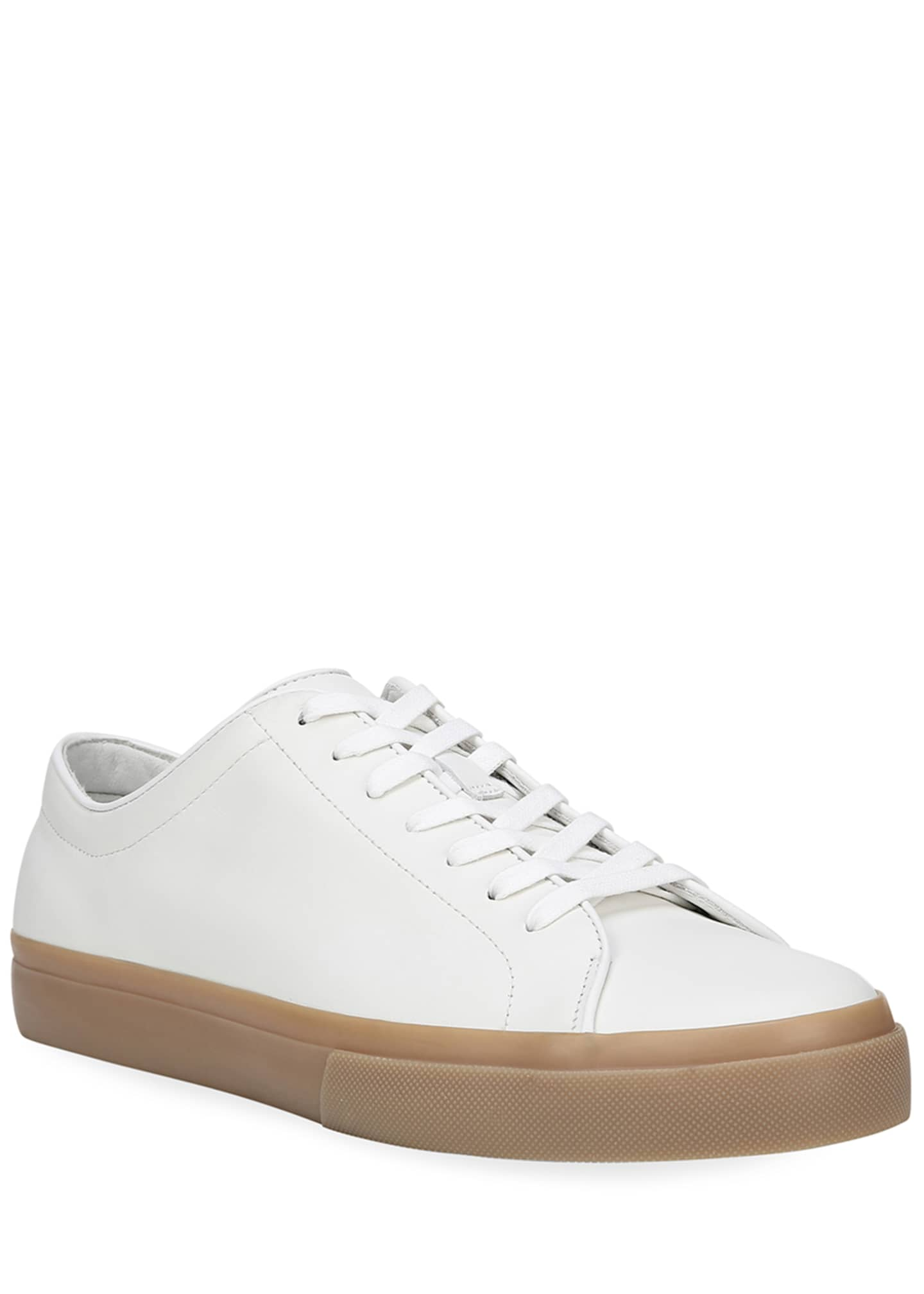 Image 3 of 5: Men's Farrell Calf Leather Low-Top Sneakers
