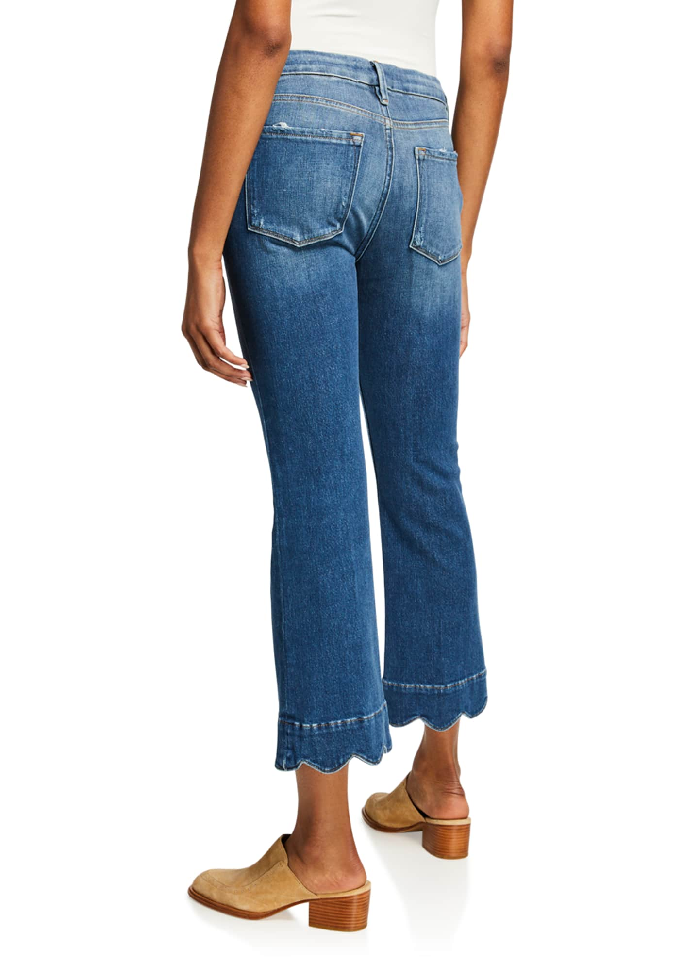 Image 2 of 3: Le Crop Mini Boot-Cut Jeans with Scalloped Hem