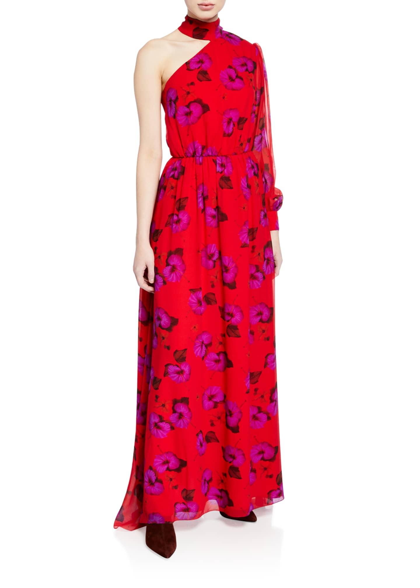 Borgo de Nor Isabeau Silk Georgette Dress