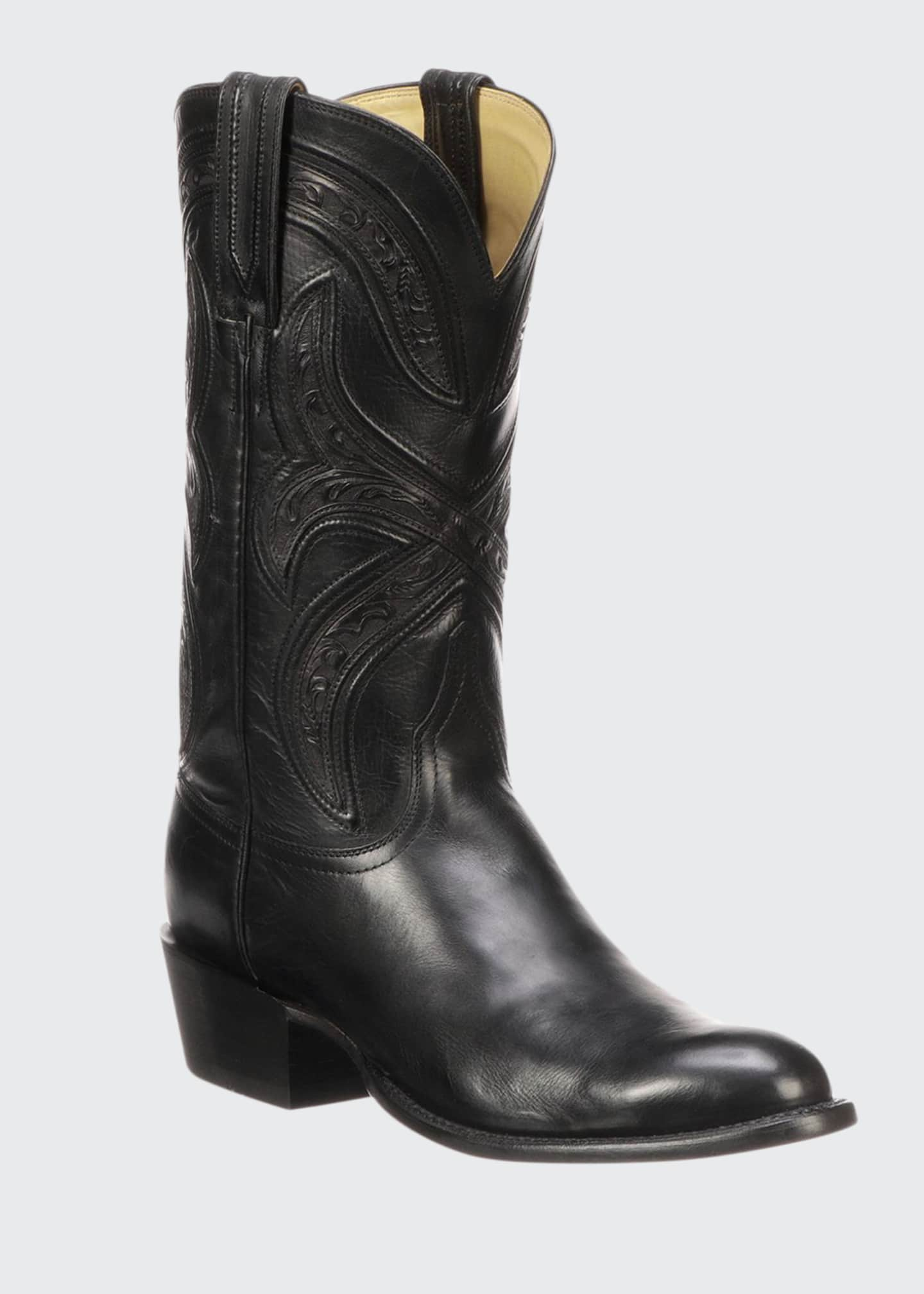 Lucchese Men's Knox Leather Cowboy Boots