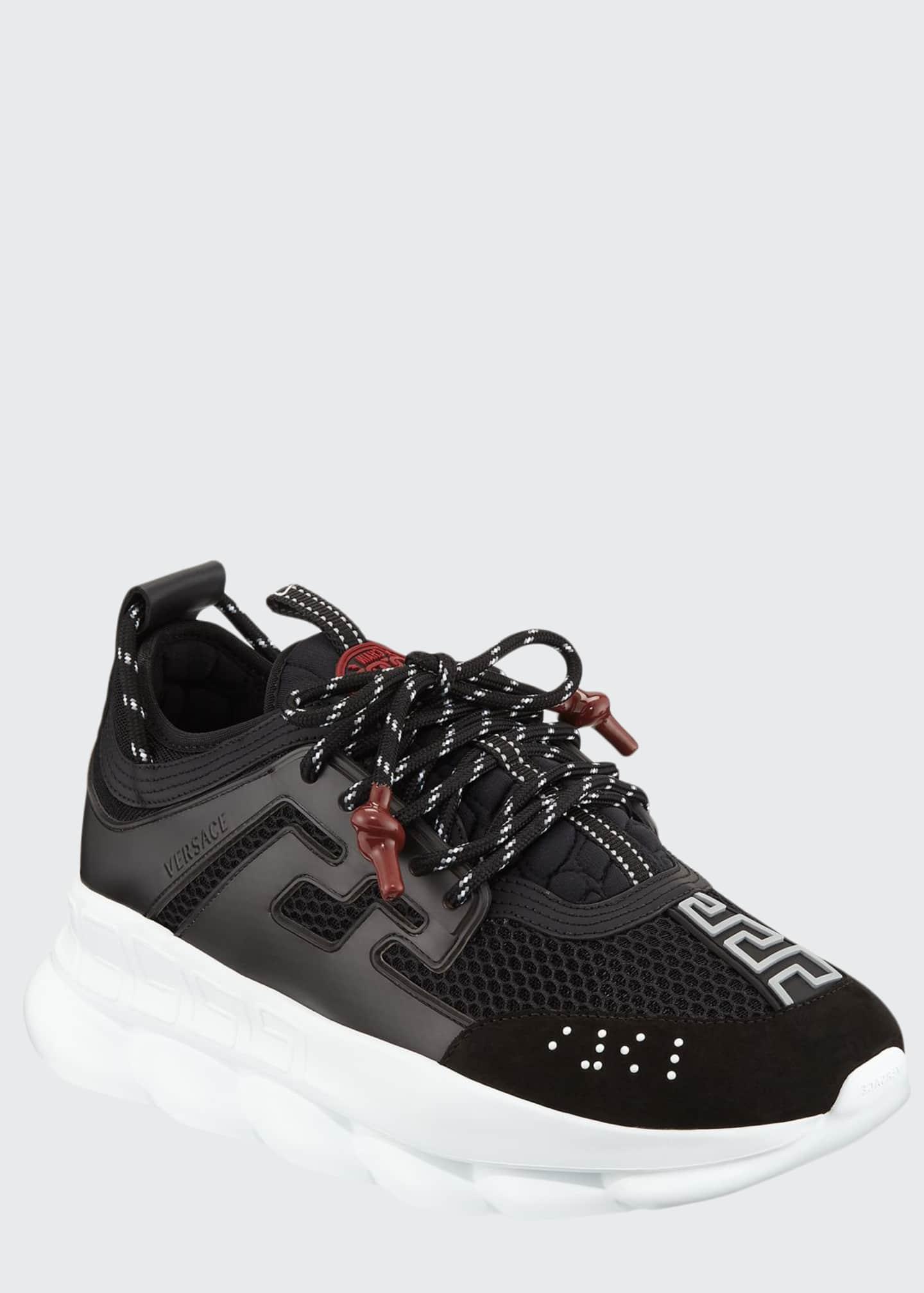 Versace Men's Chain Reaction Sneakers, Black