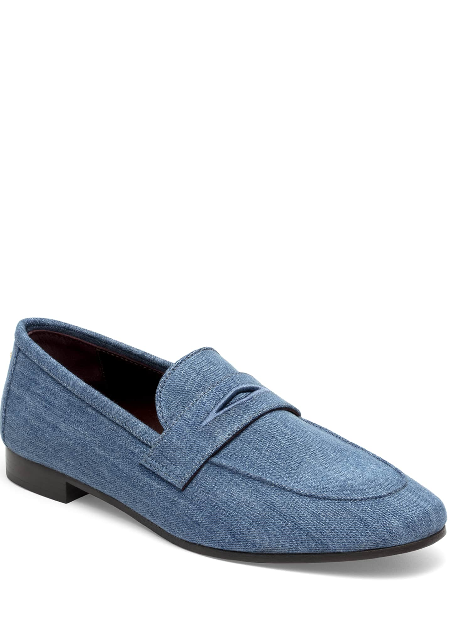 Bougeotte Flaneur Denim Penny Loafers
