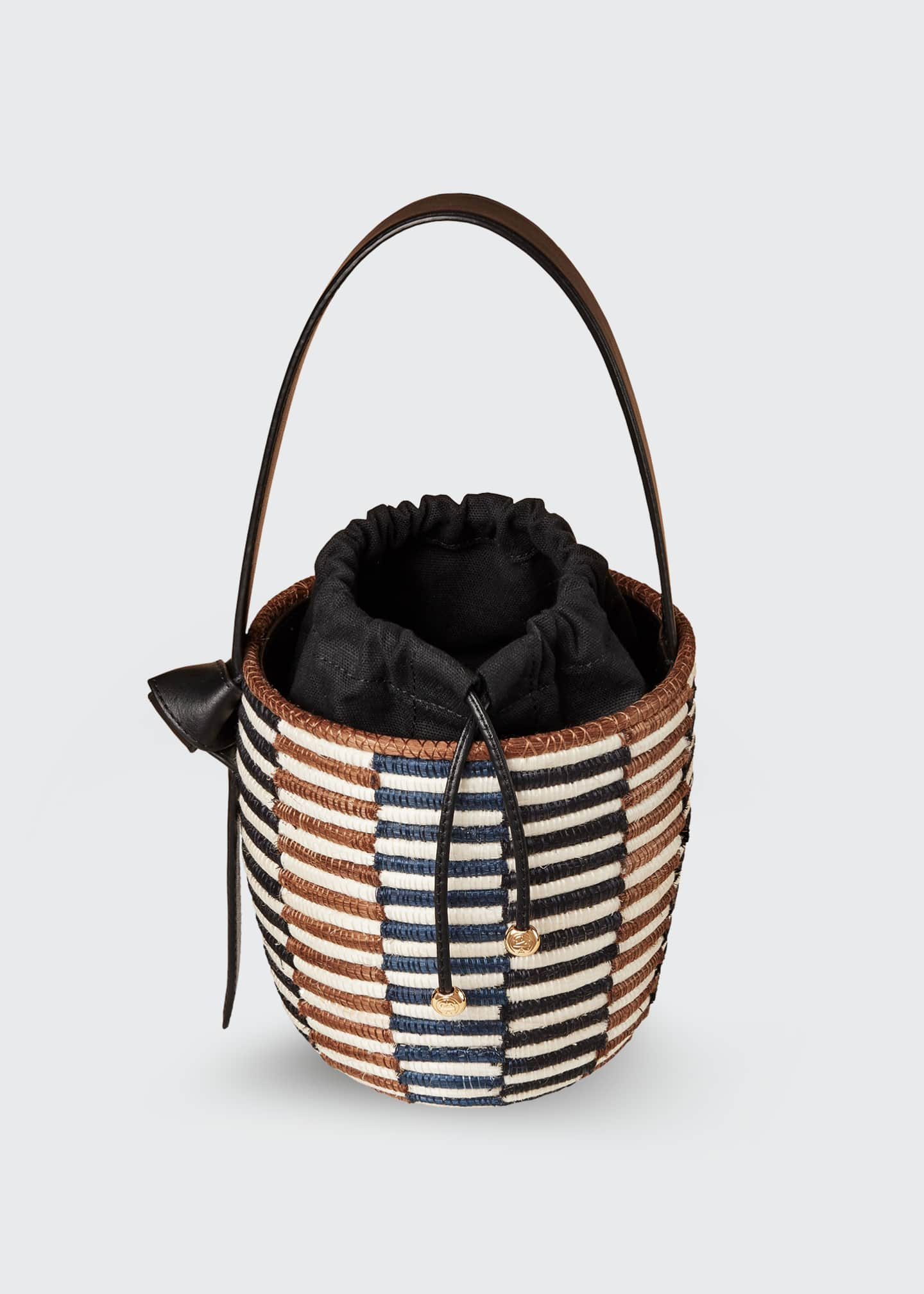 Image 2 of 4: Checkerboard Lunch Pail Bucket Bag